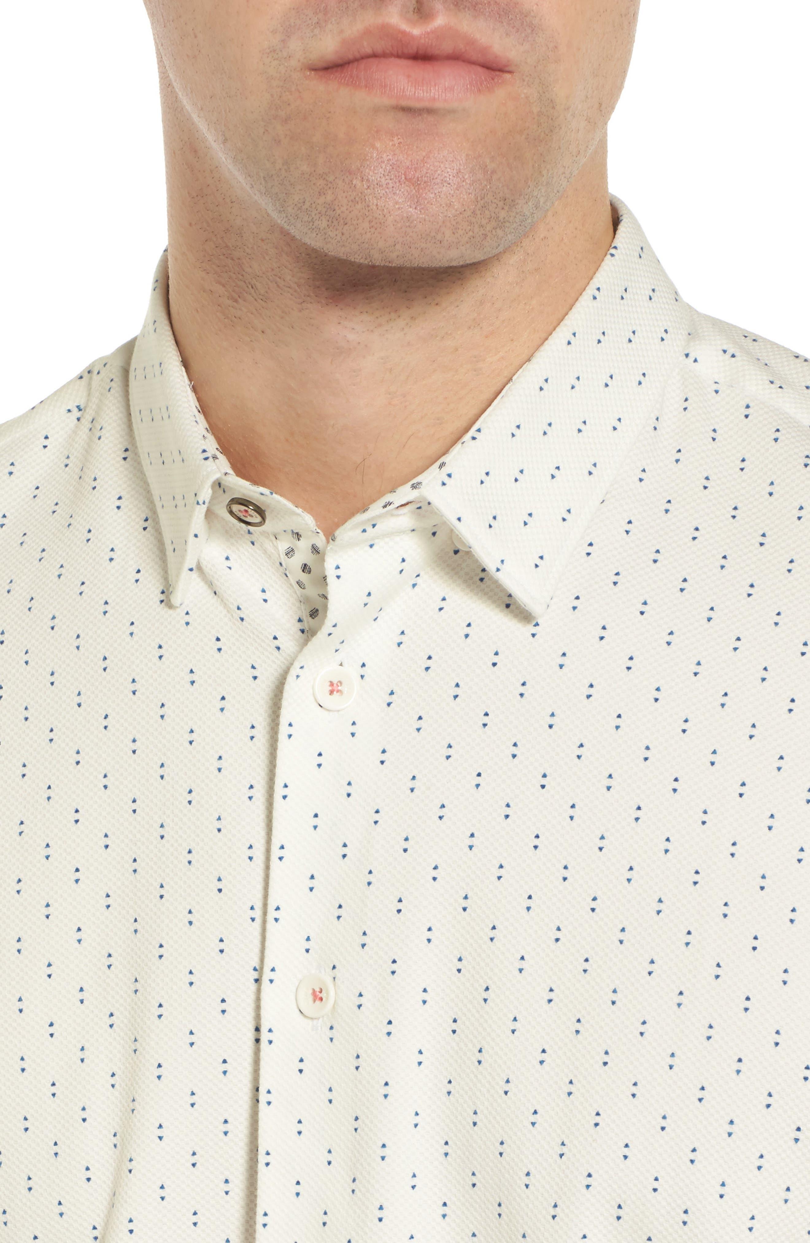 Franko Print Sport Shirt,                             Alternate thumbnail 2, color,                             White
