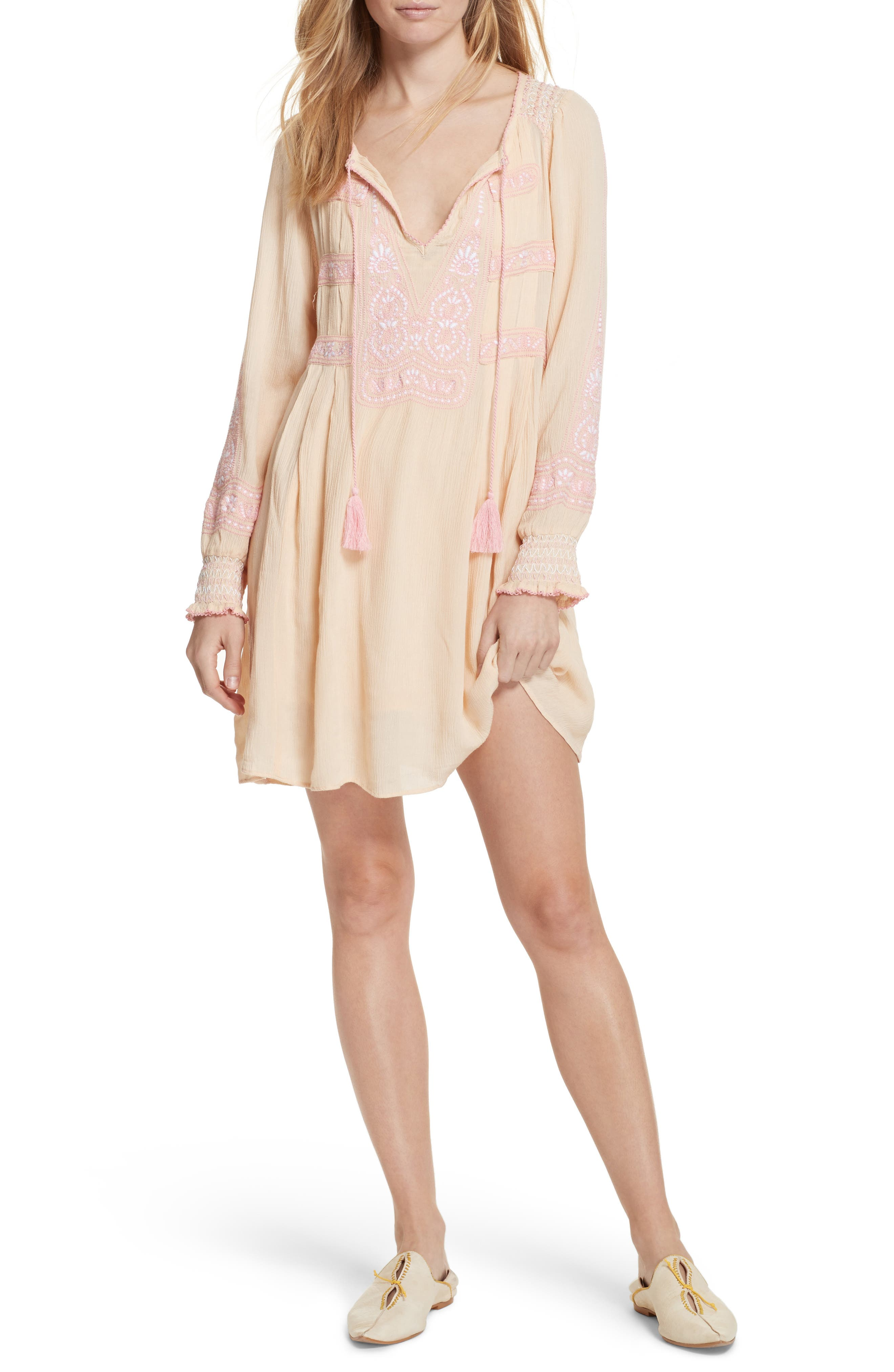 Wind Willow Minidress,                         Main,                         color, Pink