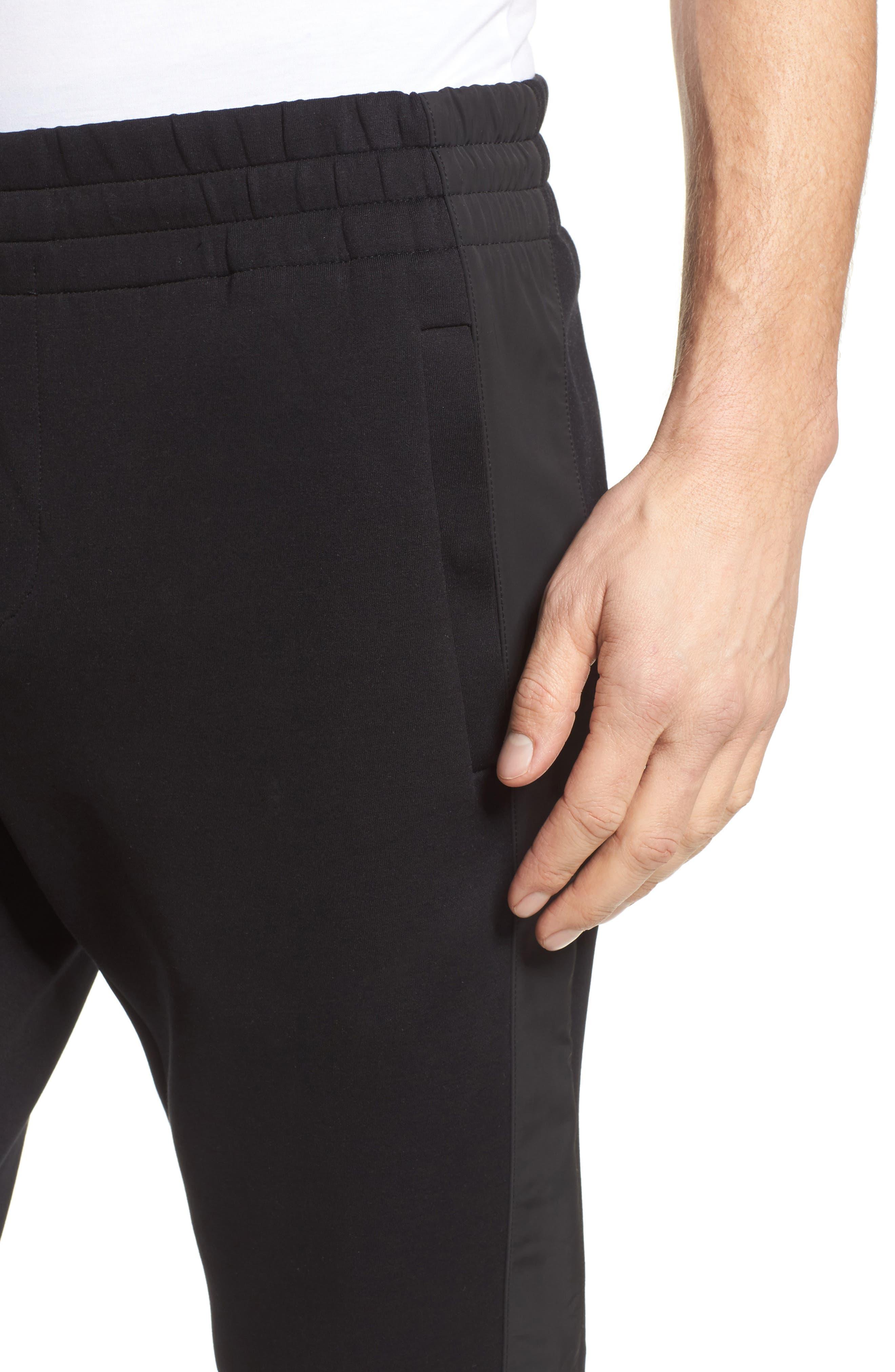 Lamont Mercedes Jogger Pants,                             Alternate thumbnail 4, color,                             Black