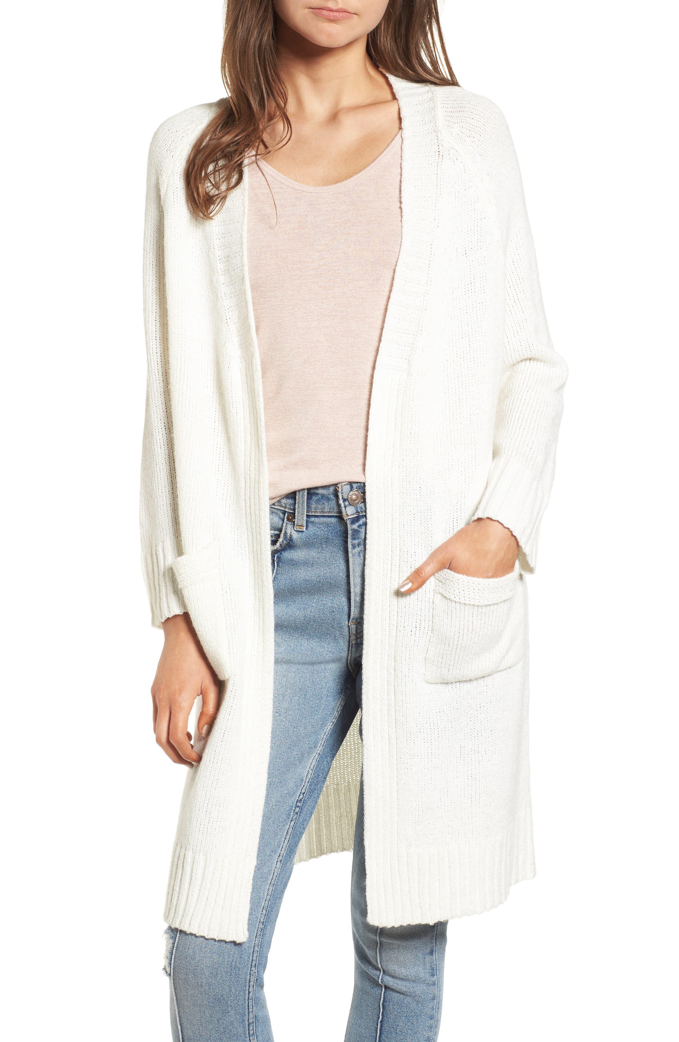 Blanco Open Cardigan,                         Main,                         color, White