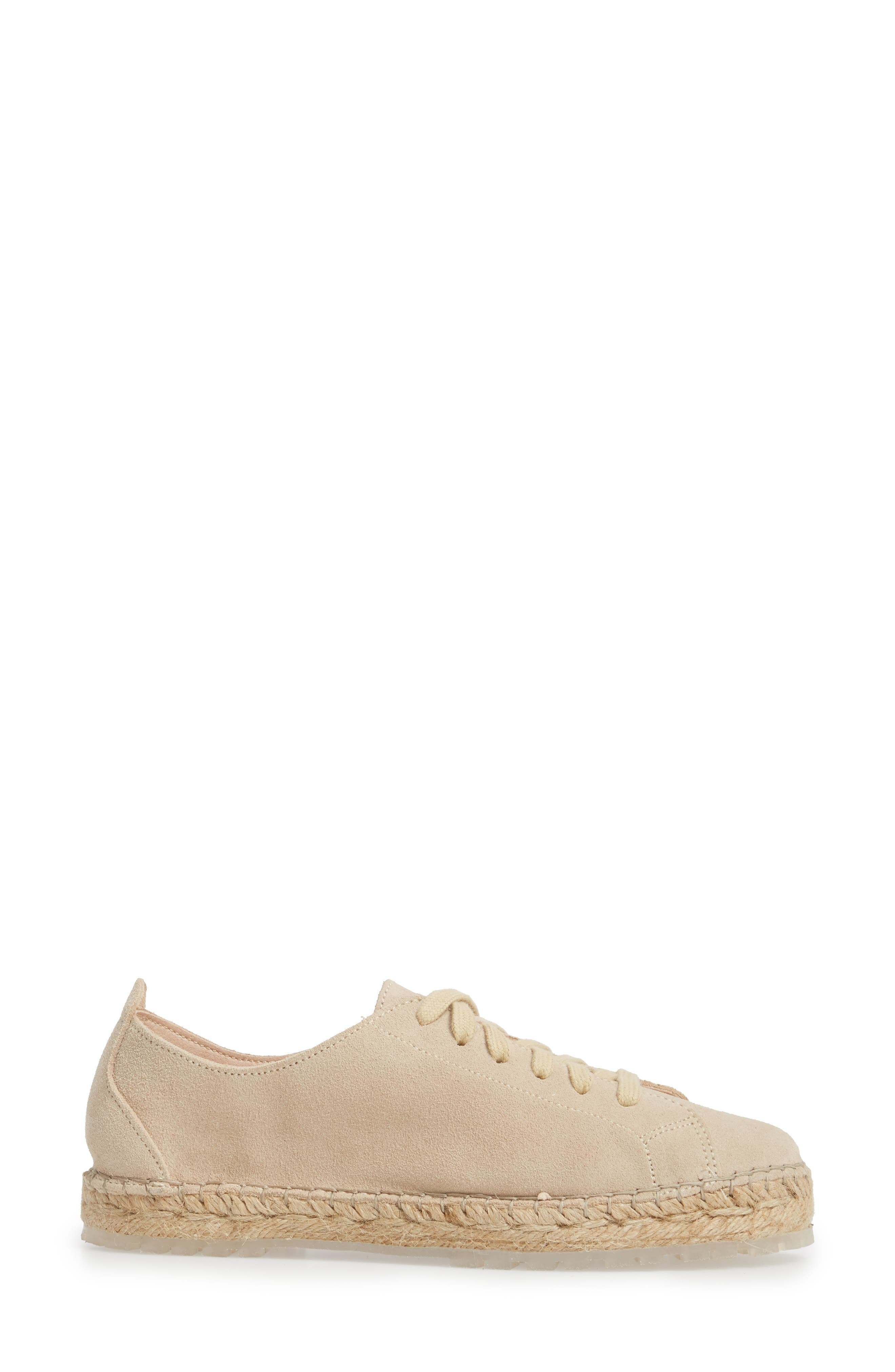 Zane Espadrille Sneaker,                             Alternate thumbnail 3, color,                             Taupe Suede
