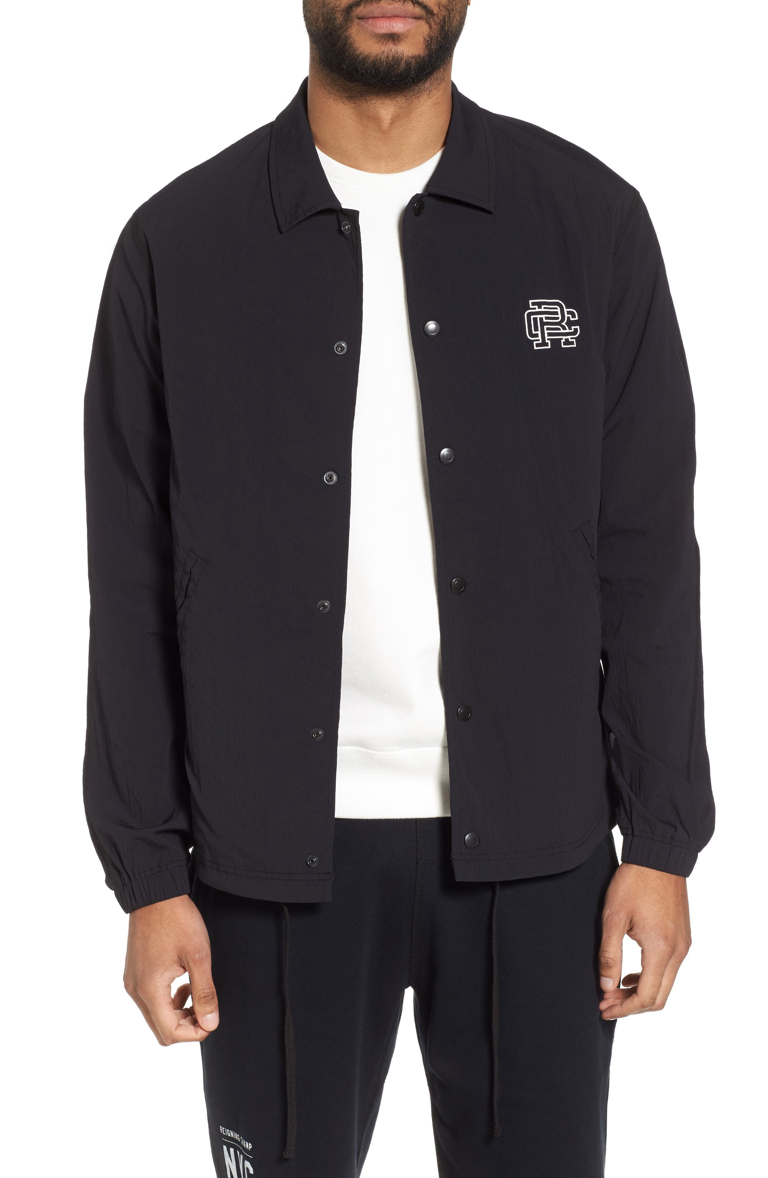 Coach's Jacket,                             Main thumbnail 1, color,                             Black