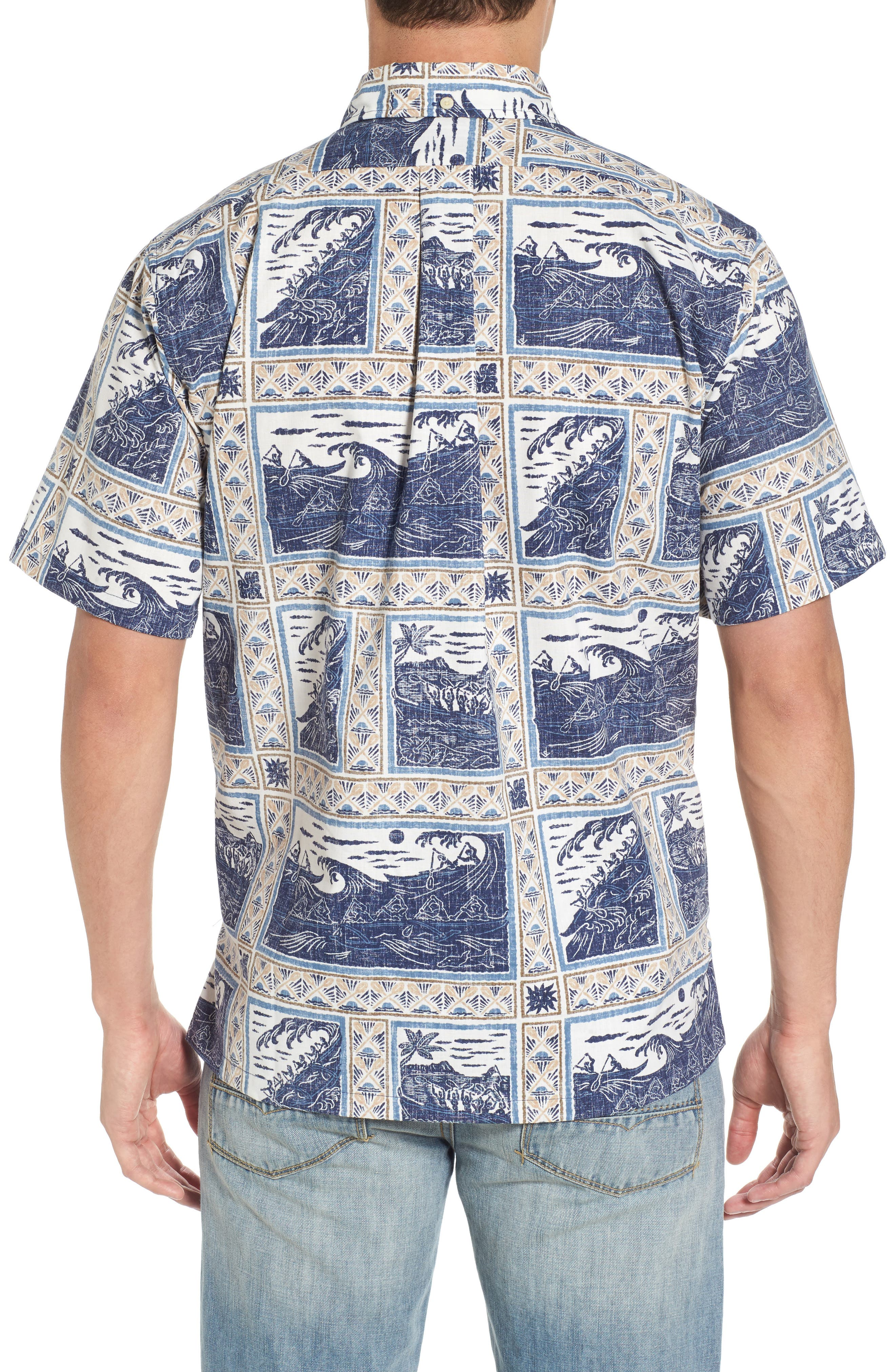 Molokai to Oahu Button Down Polo,                             Alternate thumbnail 2, color,                             Navy