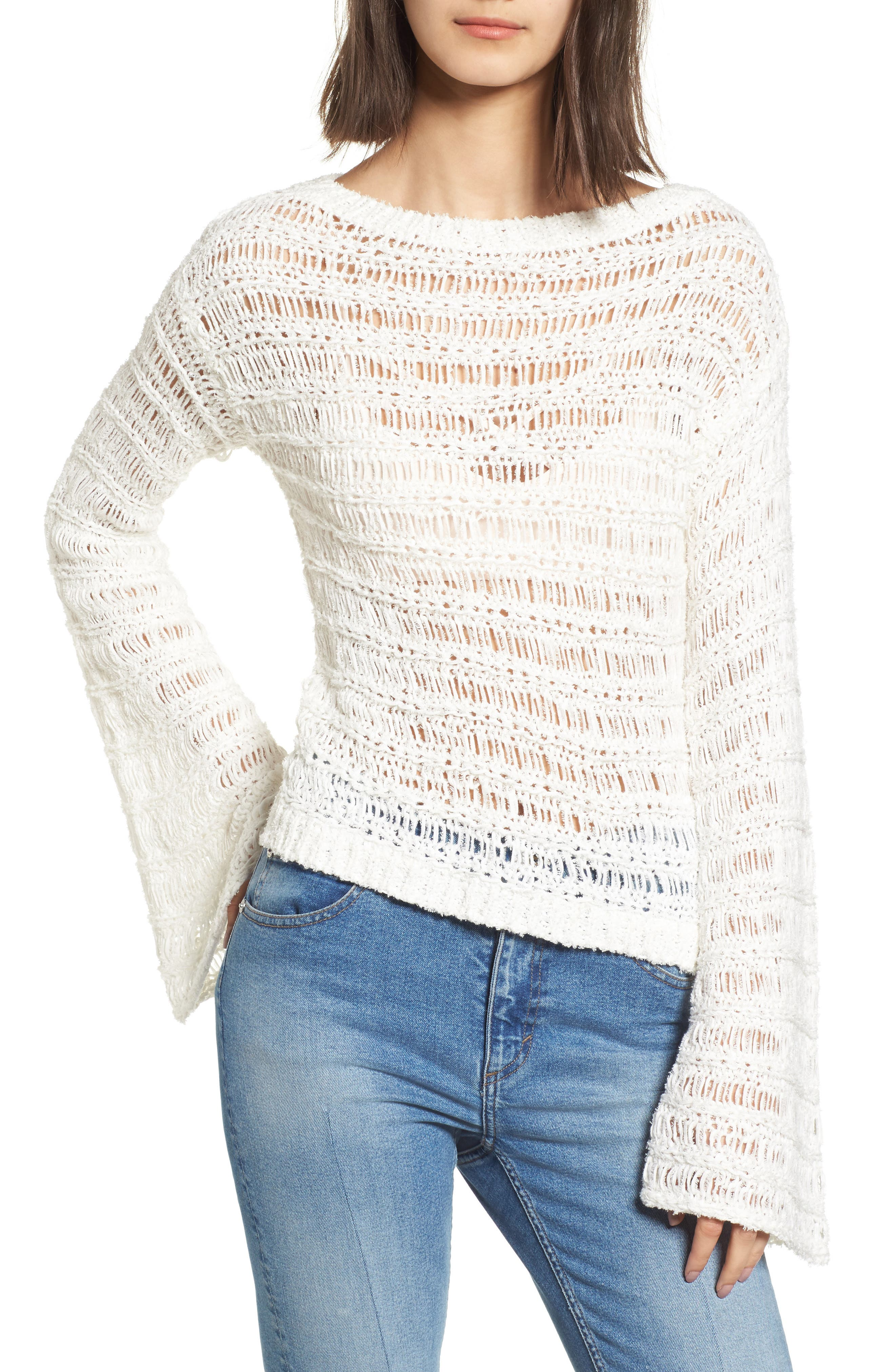 Alternate Image 1 Selected - Band of Gypsies Ladder Stitch Sweater