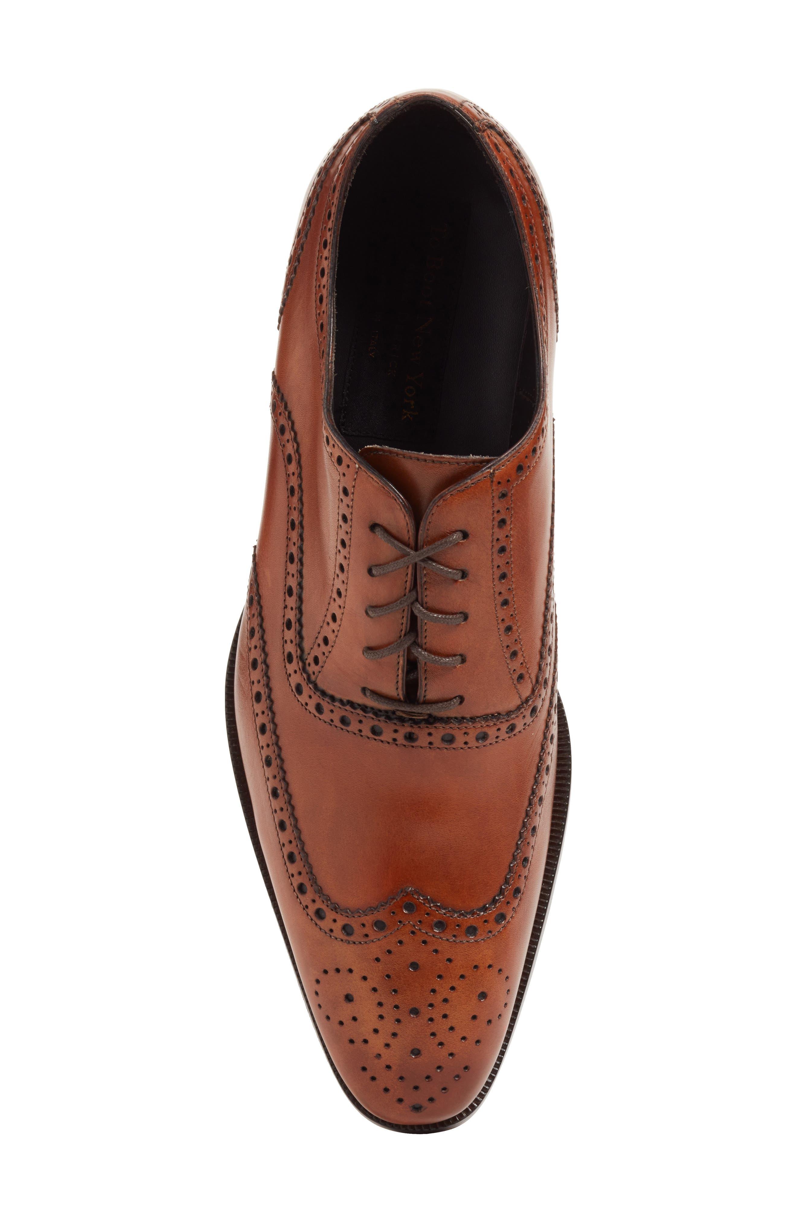Ambler Wingtip,                             Alternate thumbnail 5, color,                             Cognac Leather