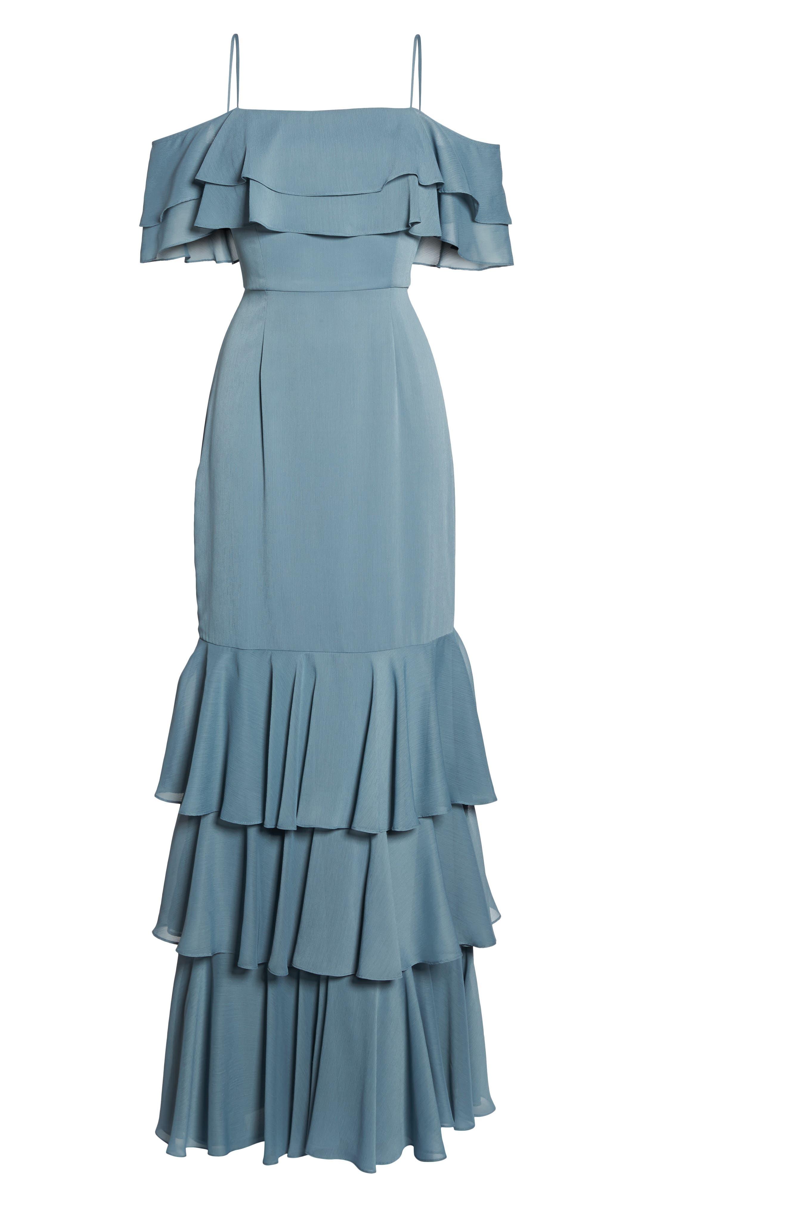 Alternate Image 6  - WAYF Lauren Off the Shoulder Tiered Gown