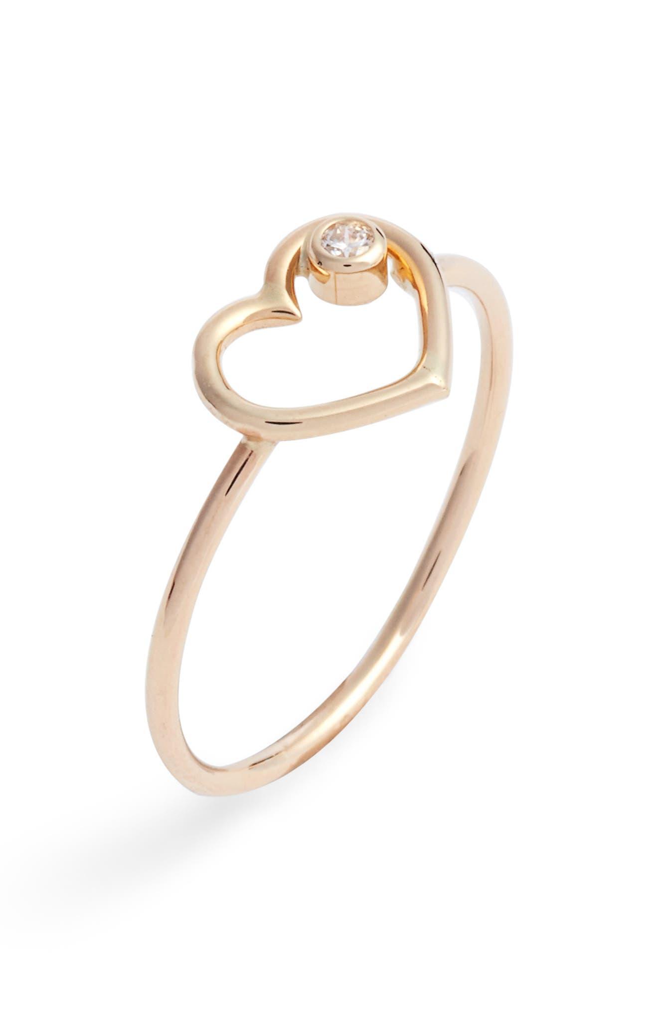 Heart of Diamond Ring,                             Main thumbnail 1, color,                             Yellow Gold