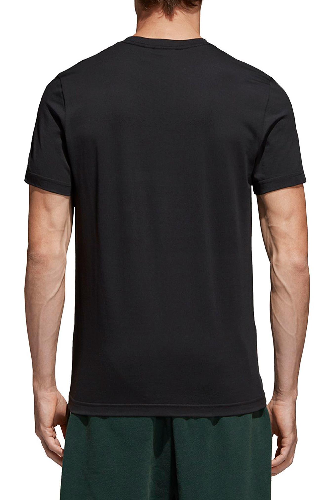 Traction Trefoil Graphic T-Shirt,                             Alternate thumbnail 2, color,                             Black