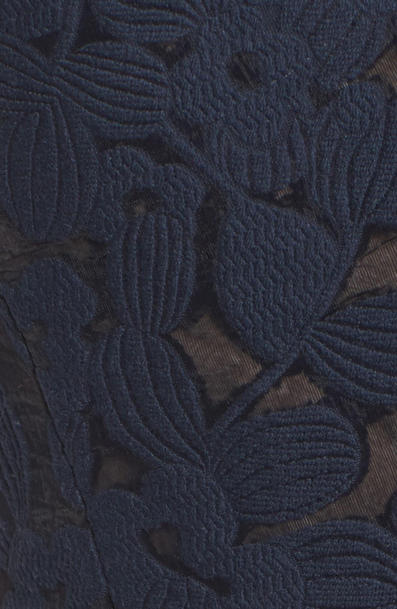 Fit & Flare Dress,                             Alternate thumbnail 5, color,                             Dark Navy