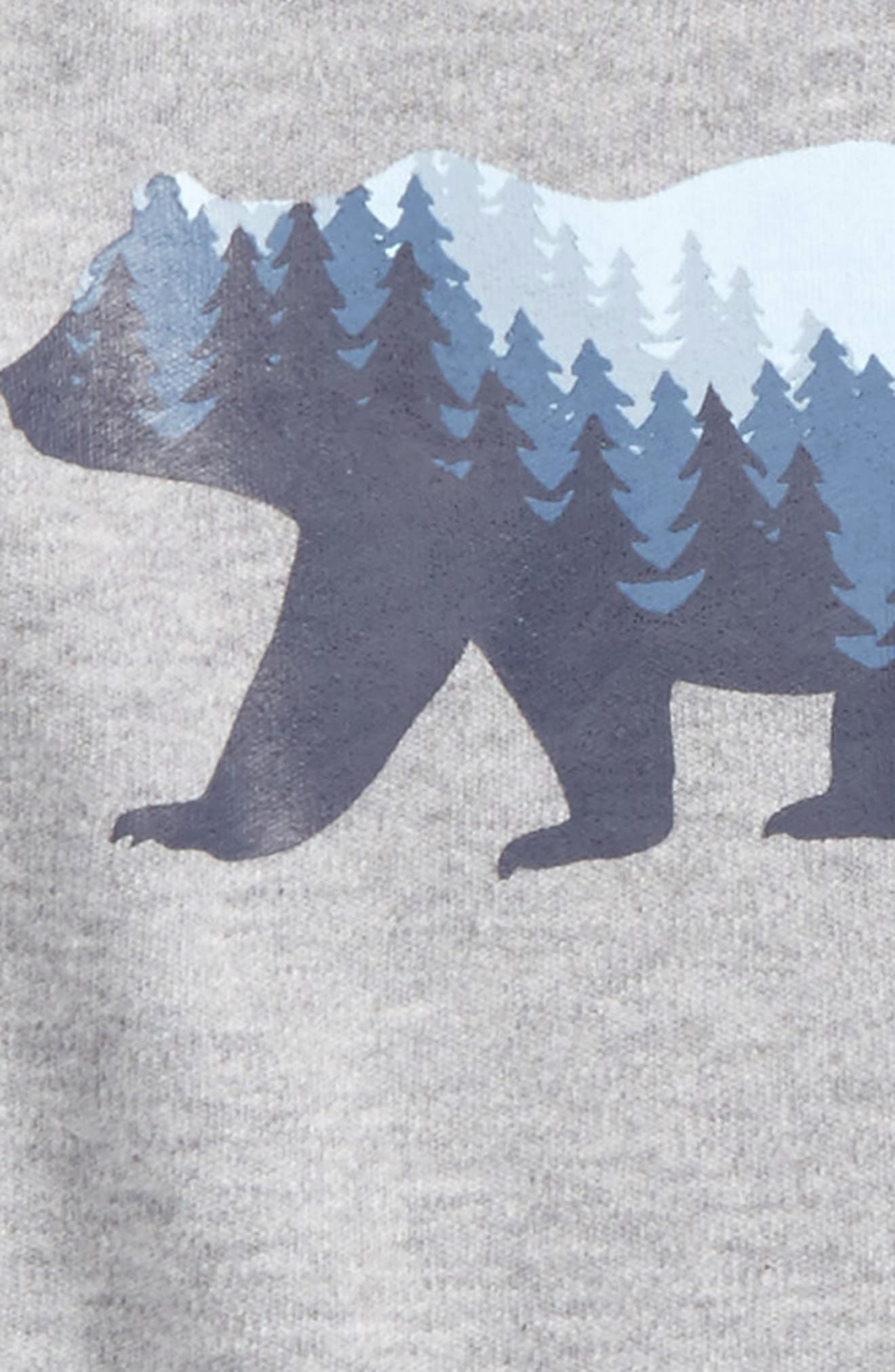 Bear Graphic Organic Cotton Bodysuit,                             Alternate thumbnail 2, color,                             Heather Grey