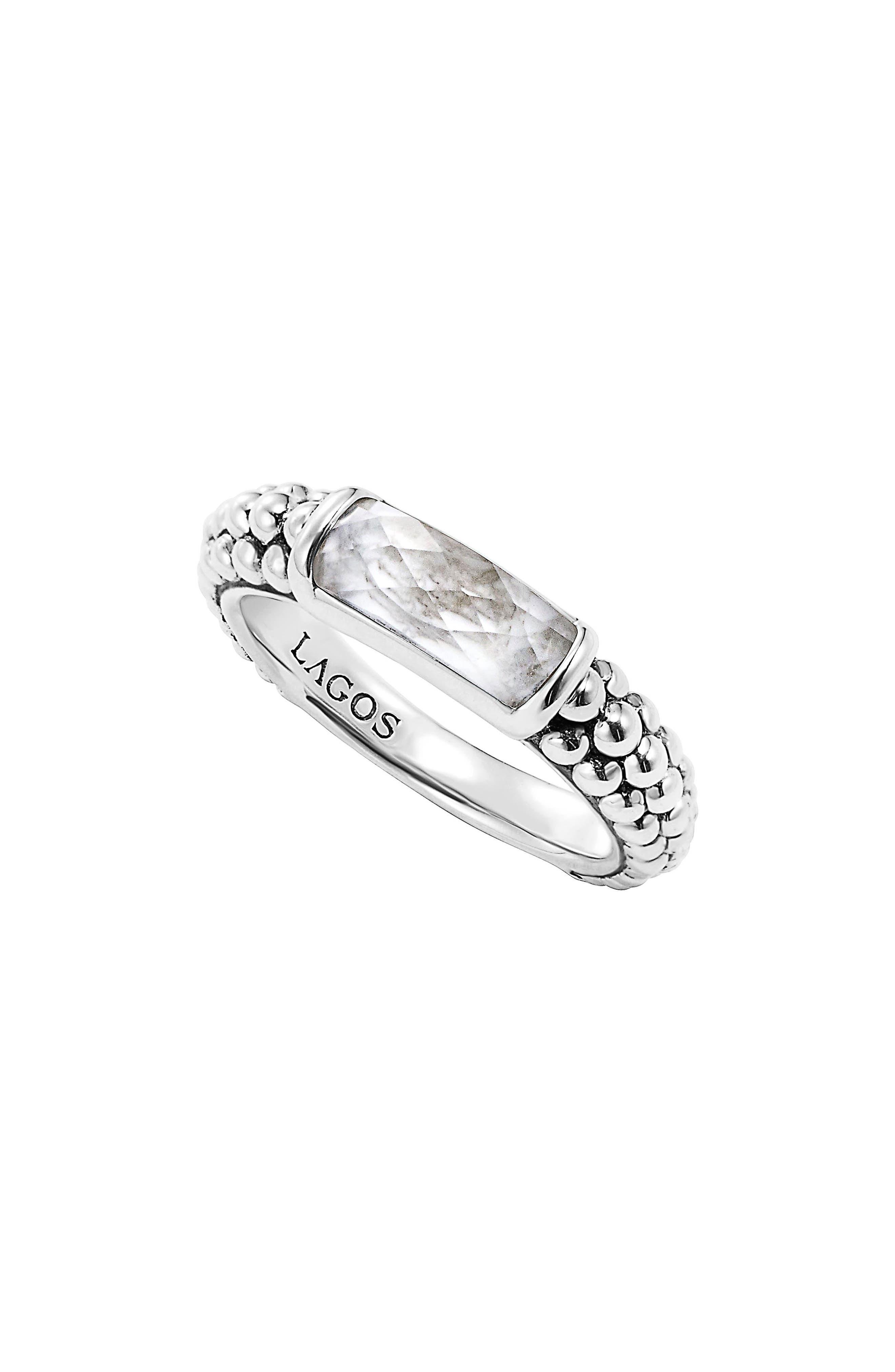Alternate Image 1 Selected - LAGOS 'Maya' Stackable Caviar Ring