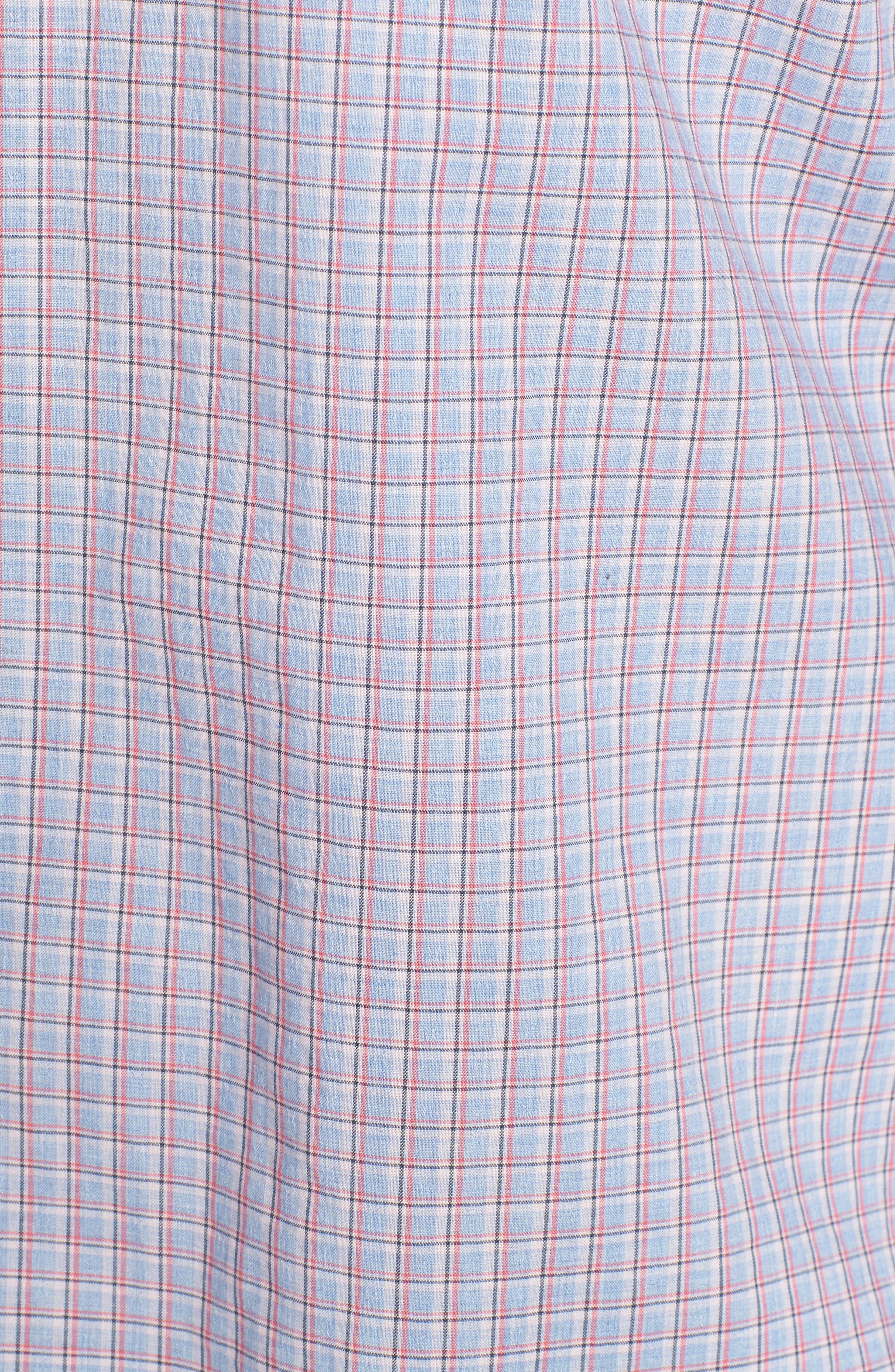 Drozdov Plaid Sport Shirt,                             Alternate thumbnail 5, color,                             Pink