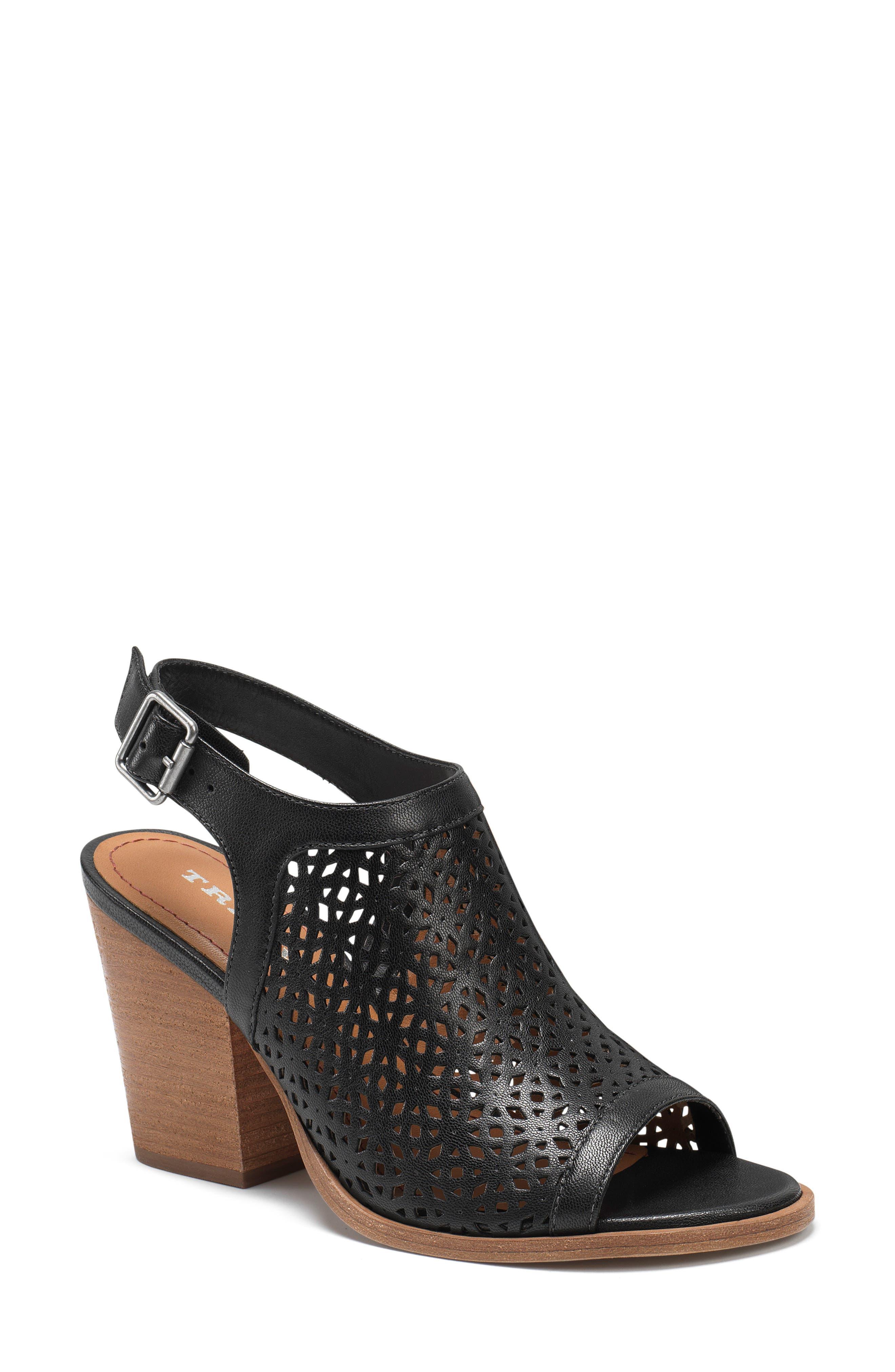Parker Slingback Sandal,                             Main thumbnail 1, color,                             Black Leather