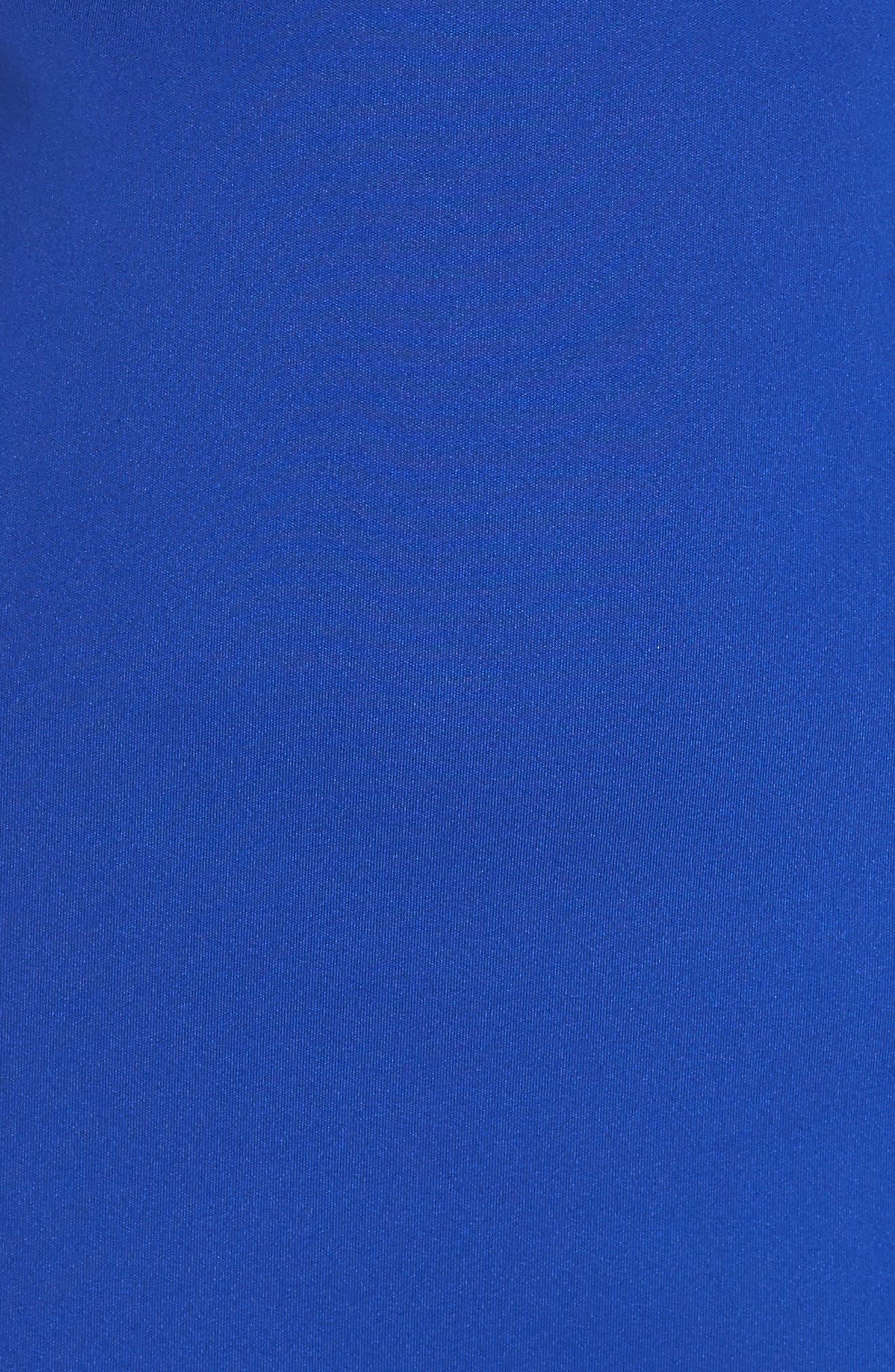 Flower Detail Sheath Dress,                             Alternate thumbnail 5, color,                             Cobalt