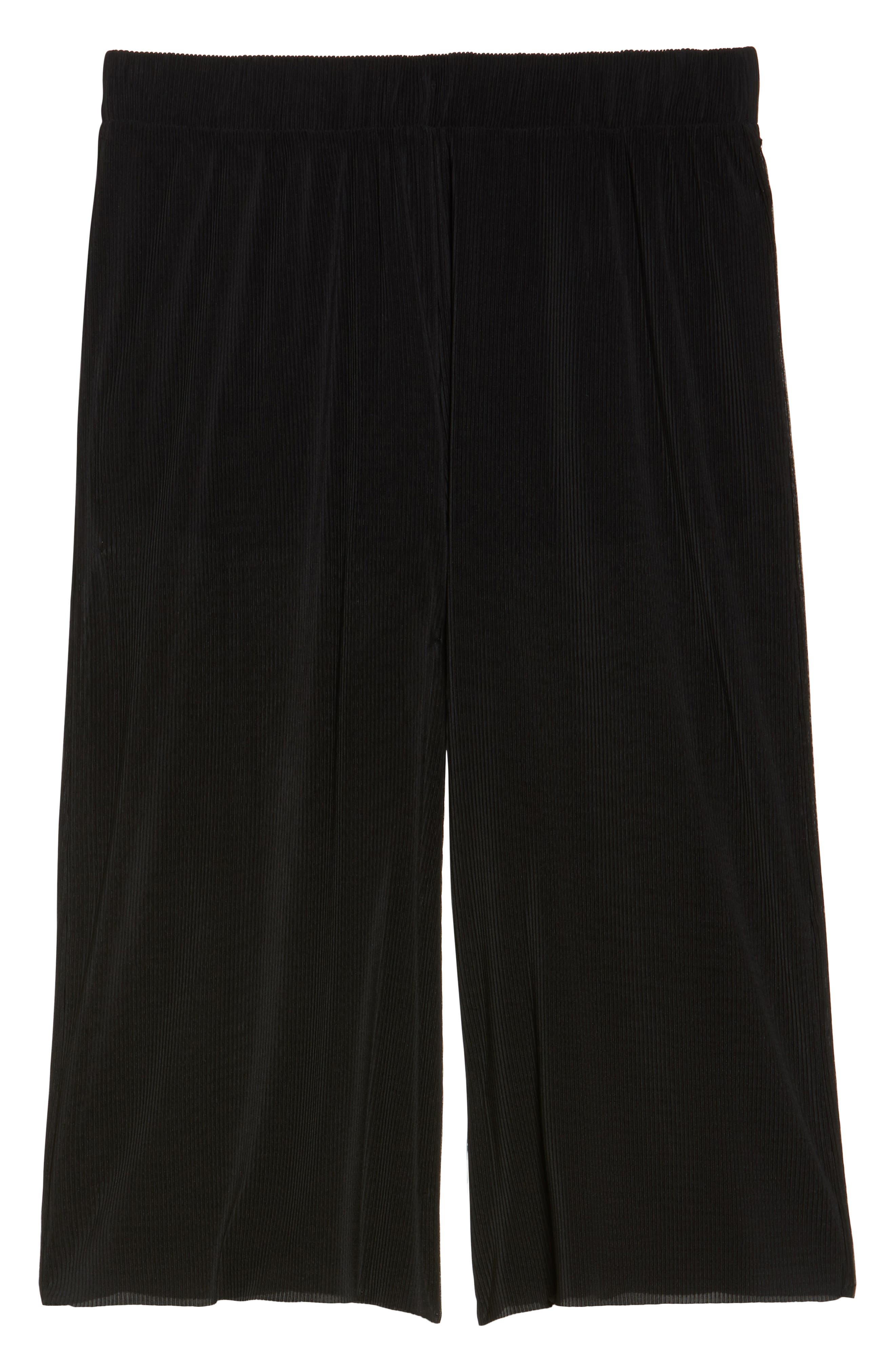 Pleated Culottes,                             Alternate thumbnail 6, color,                             Black