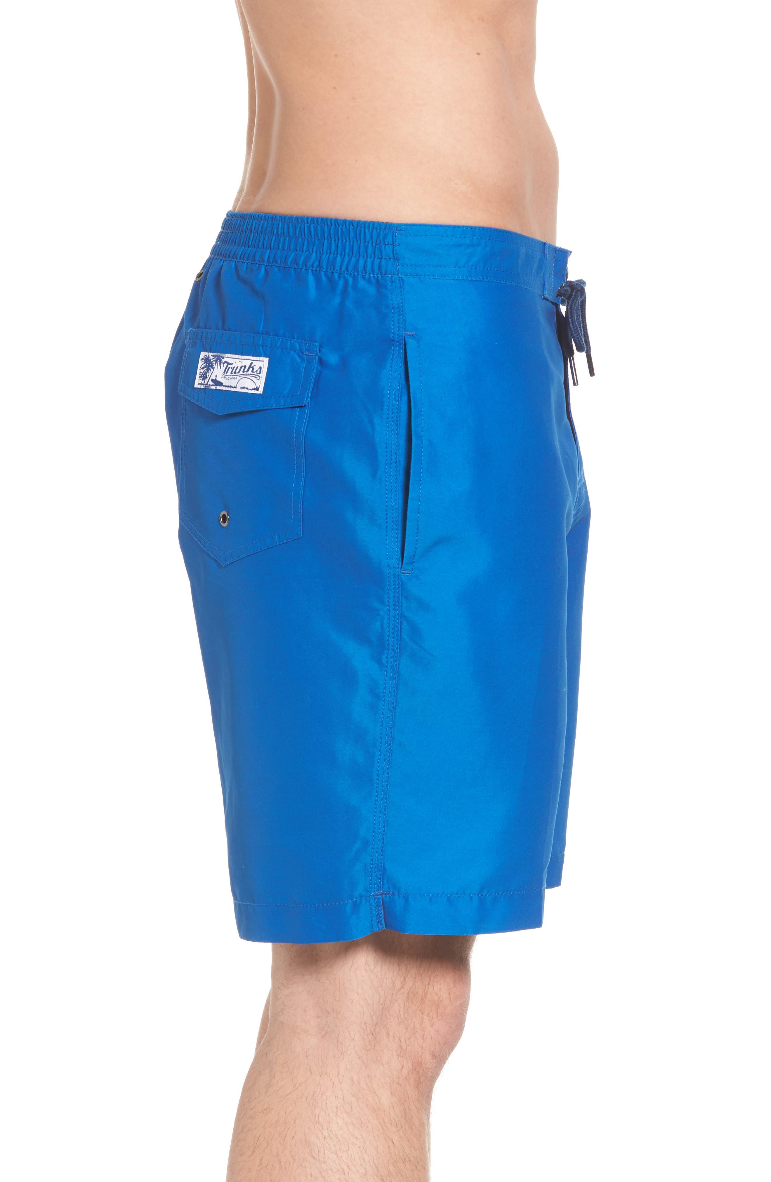 Swami Solid Board Shorts,                             Alternate thumbnail 3, color,                             Nautical Blue/ Marine