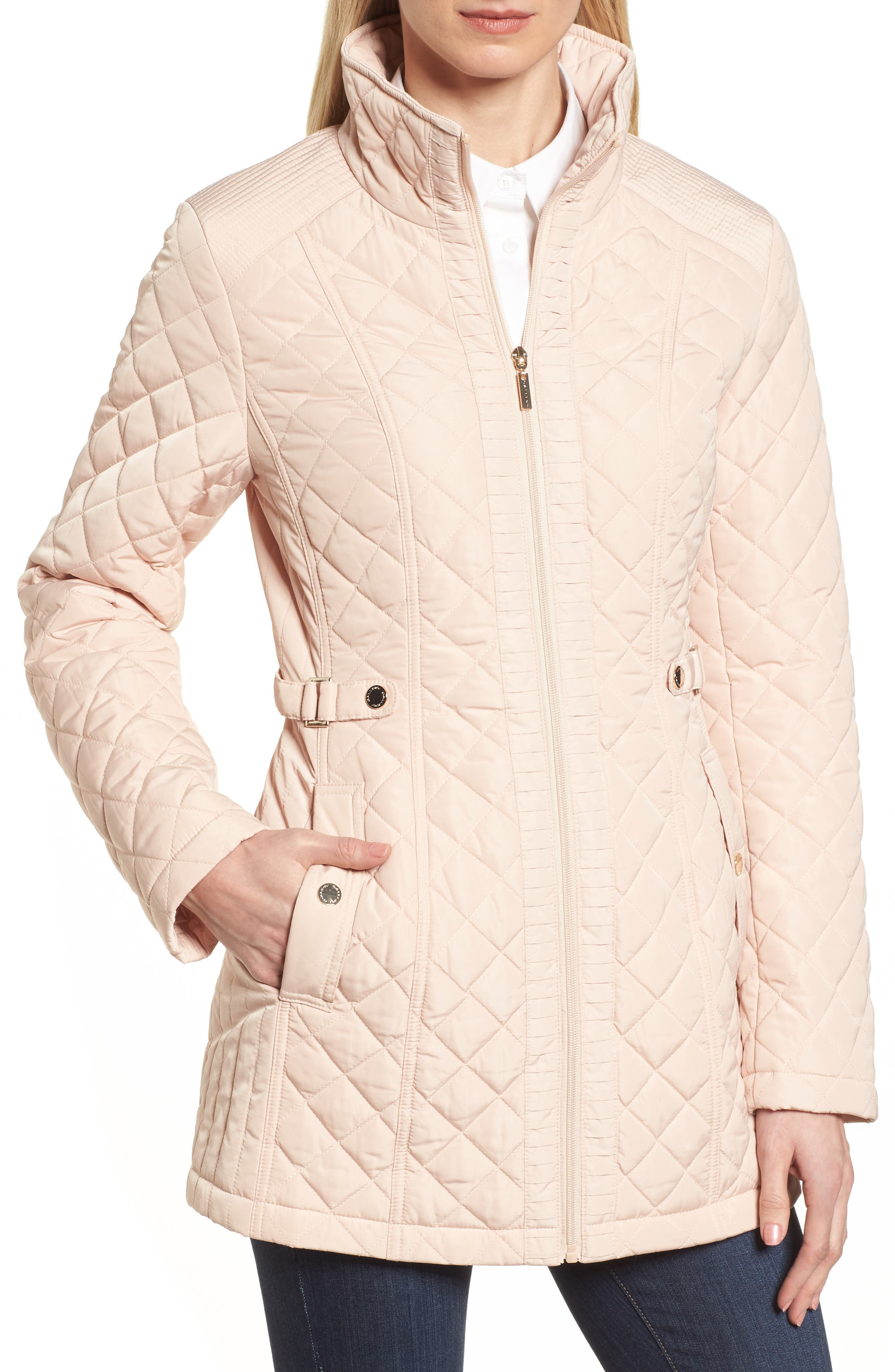 Gallery Quilted Long Jacket