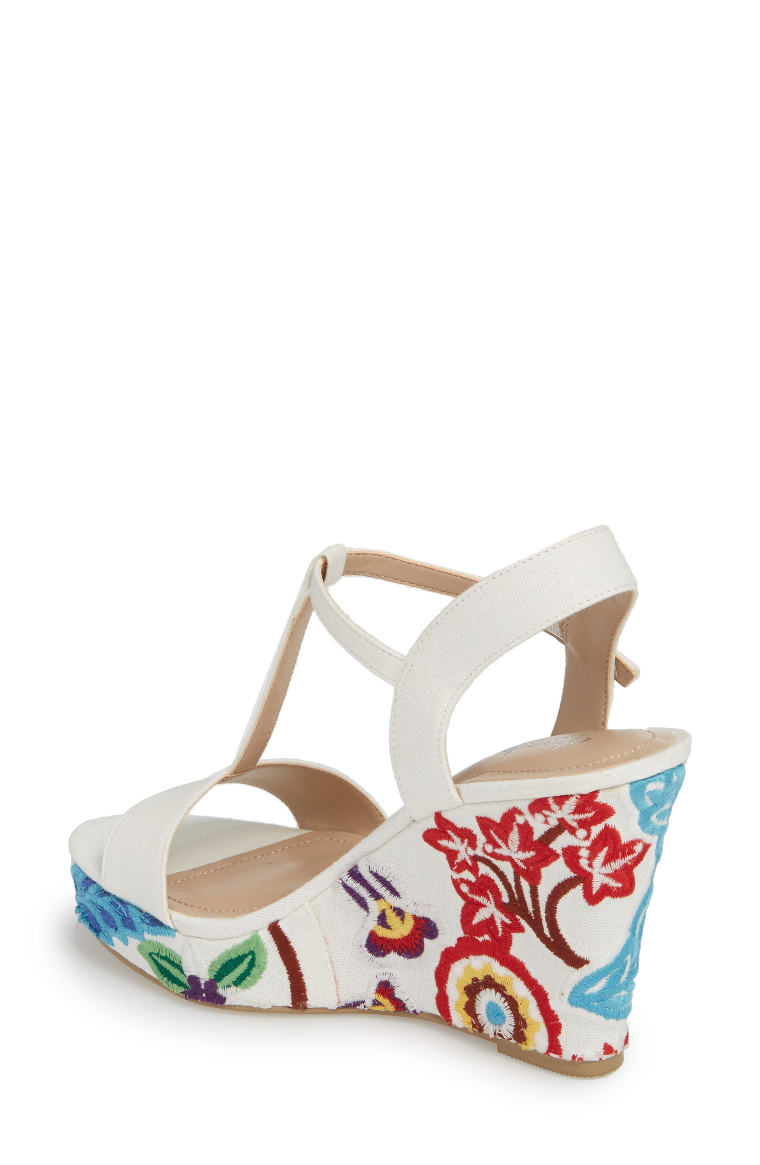 Alternate Image 2  - Charles by Charles David Laney Embroidered Wedge Sandal (Women)