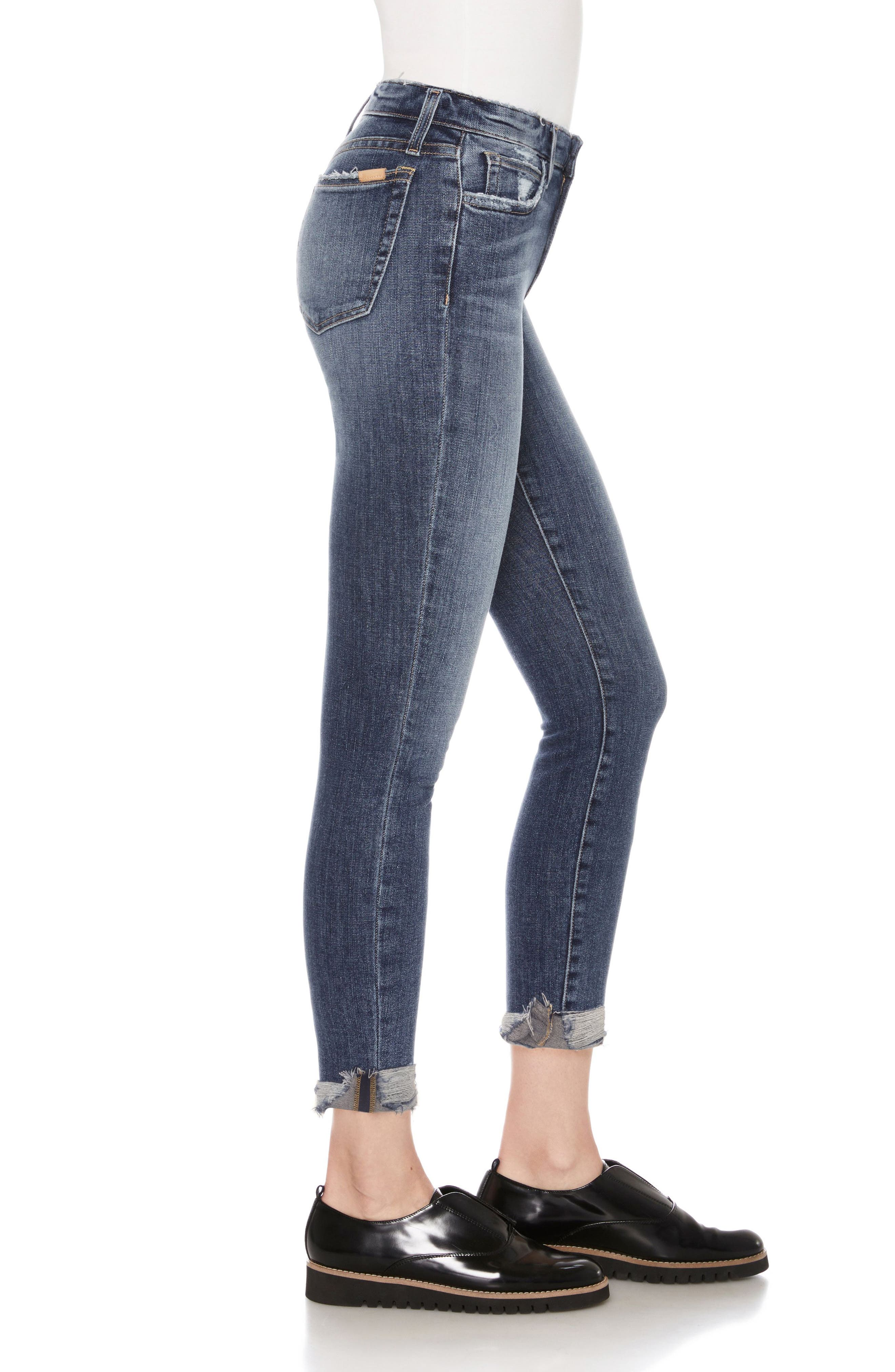 Flawless - Icon Crop Skinny Jeans,                             Alternate thumbnail 3, color,                             Aisha