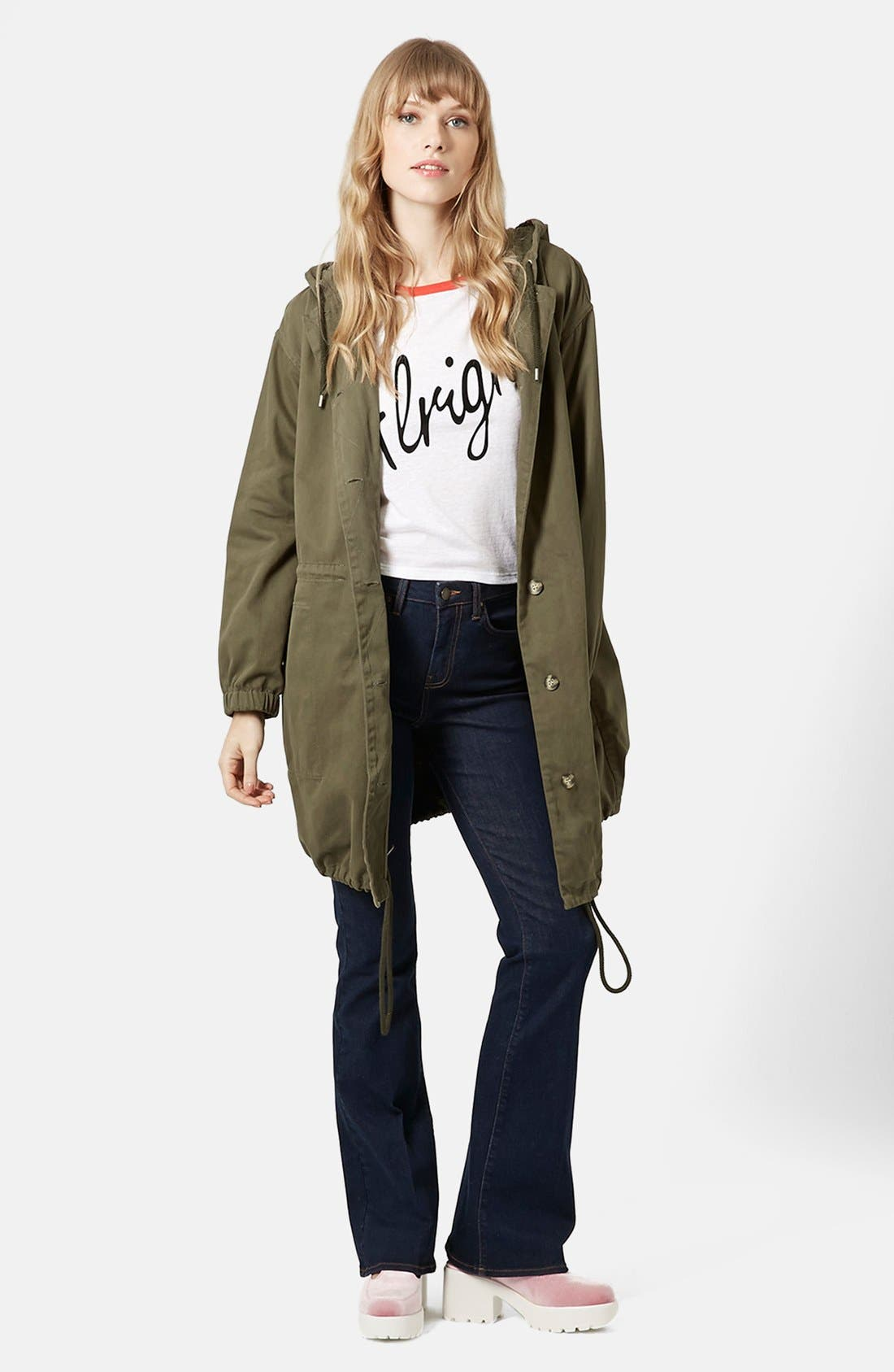 Alternate Image 3  - Topshop 'Marte' Hooded Parka (Brit Pop-In)