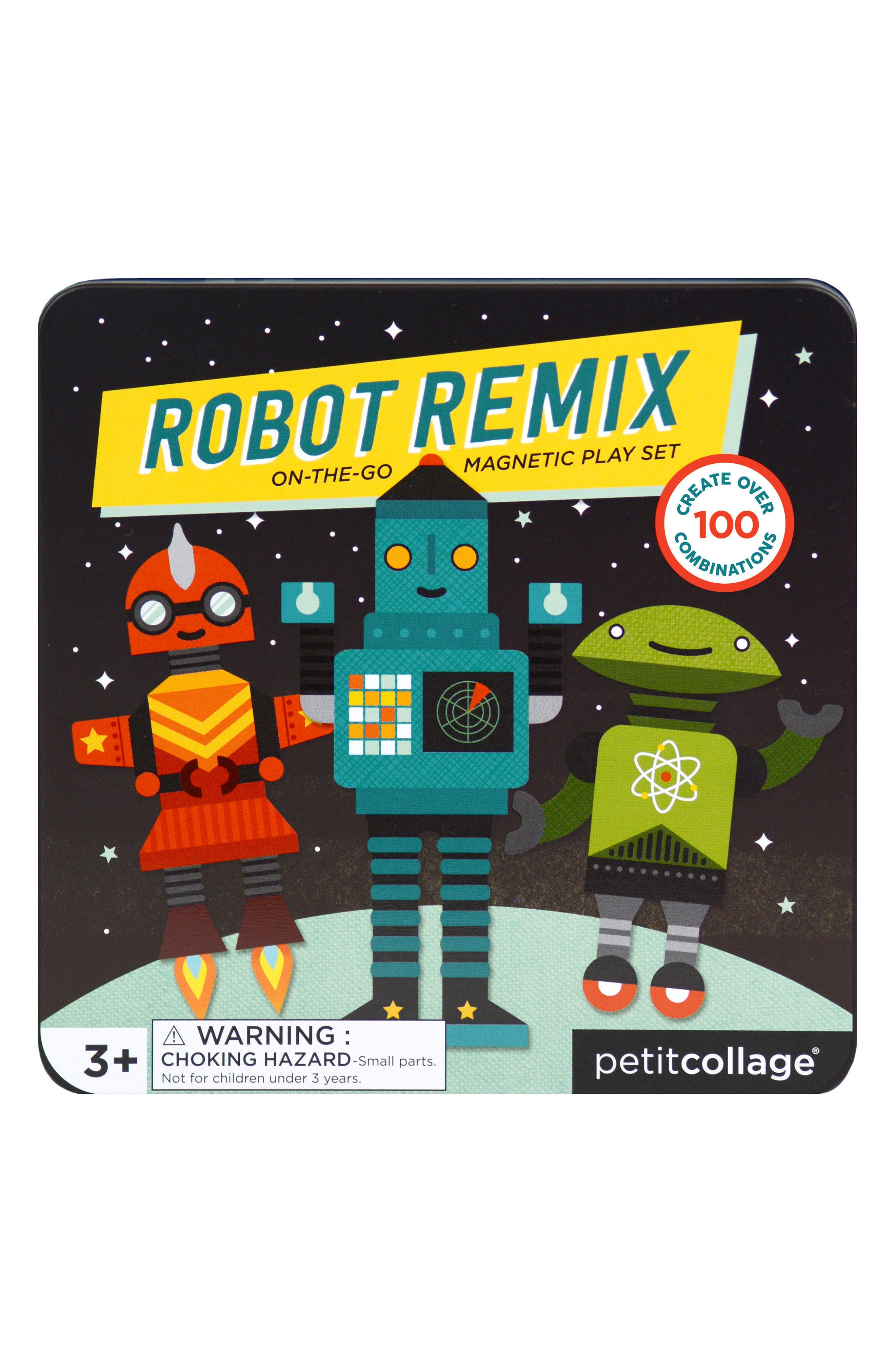 Petit Collage Robot Remix On-the-Go Magnetic Play Set