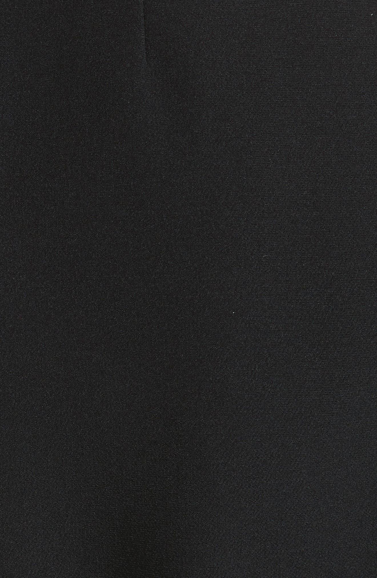 Selena Ruffle Sleeve Coat,                             Alternate thumbnail 6, color,                             Black/ Cream
