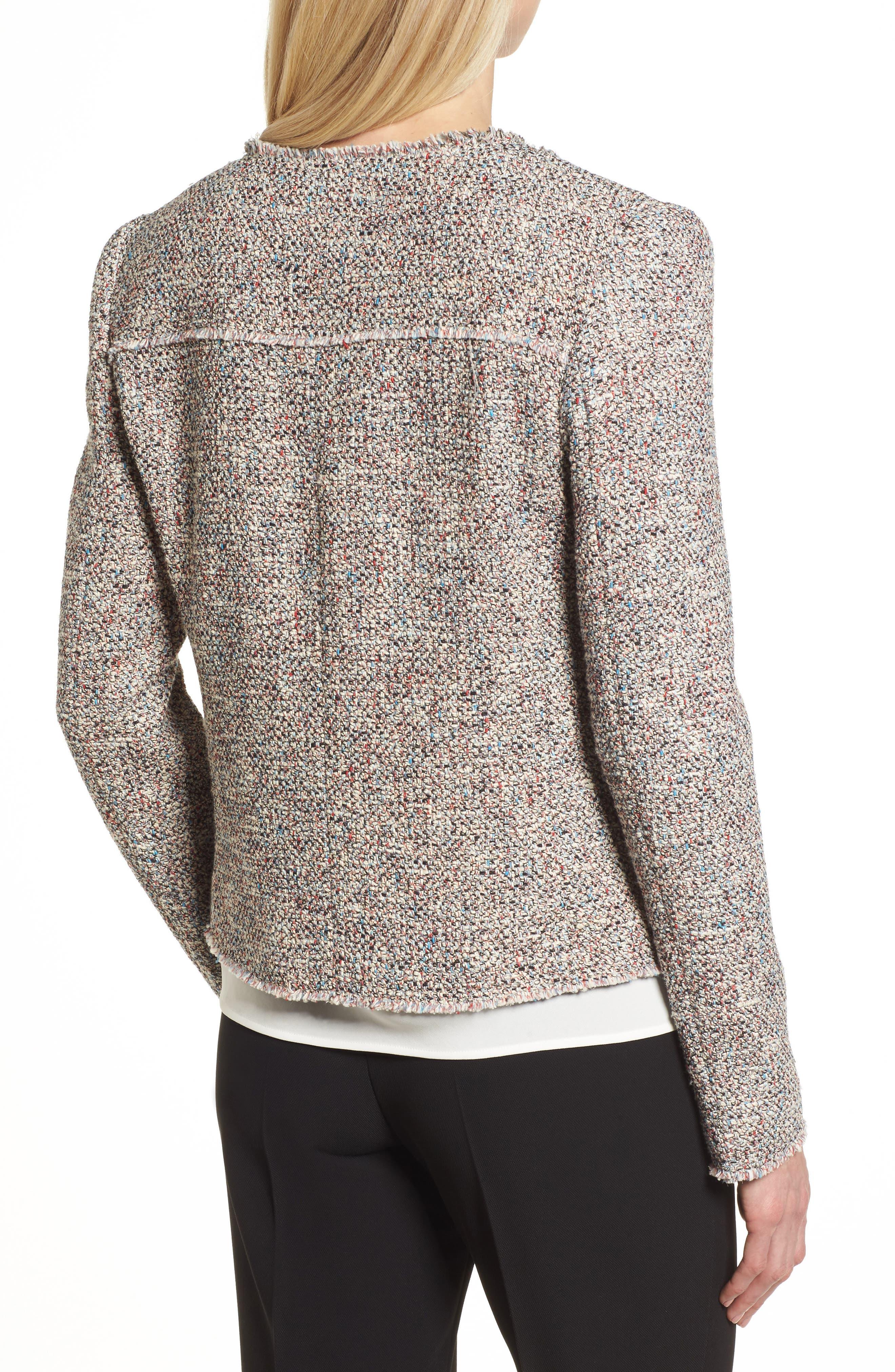 Alternate Image 2  - BOSS Koralie Tweed Jacket (Regular & Petite)