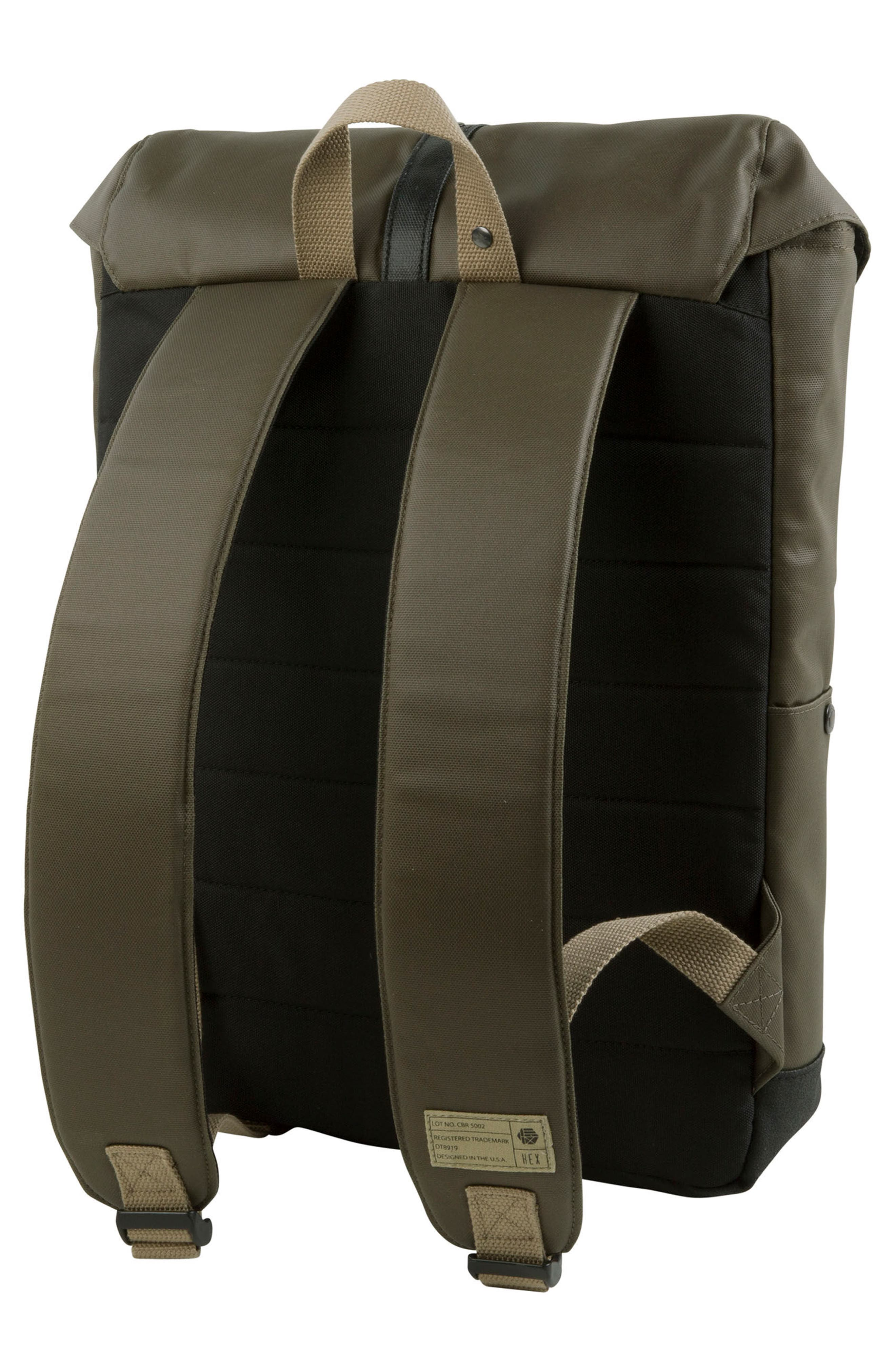 'Alliance' Water Resistant Backpack,                             Alternate thumbnail 2, color,                             Olive