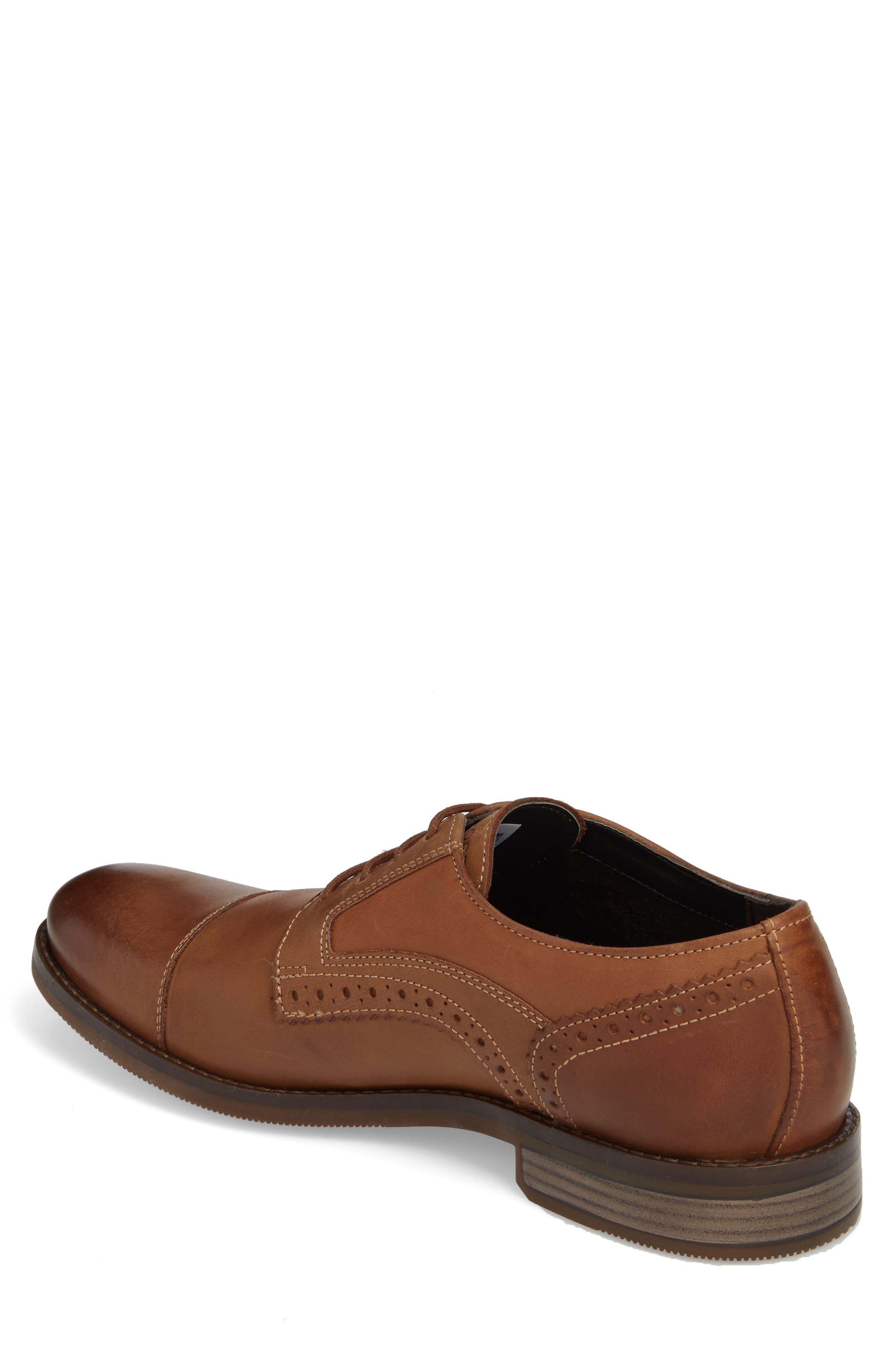 Wynston Cap Toe Blucher,                             Alternate thumbnail 2, color,                             Tobacco Leather