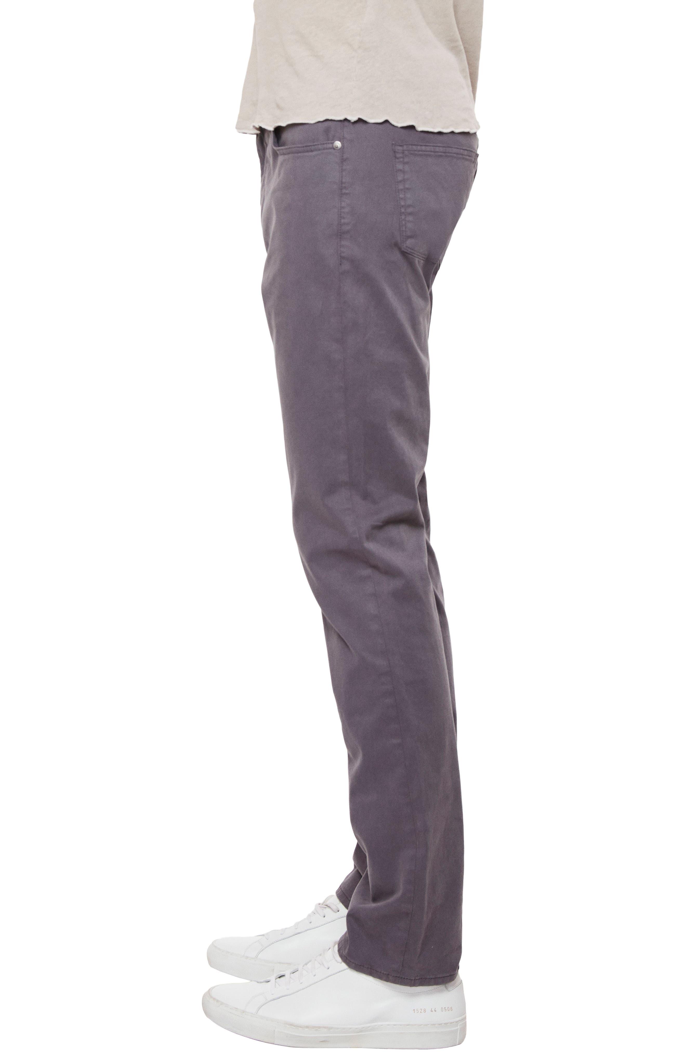 'Kane' Slim Fit Cotton Twill Pants,                             Alternate thumbnail 3, color,                             Graben