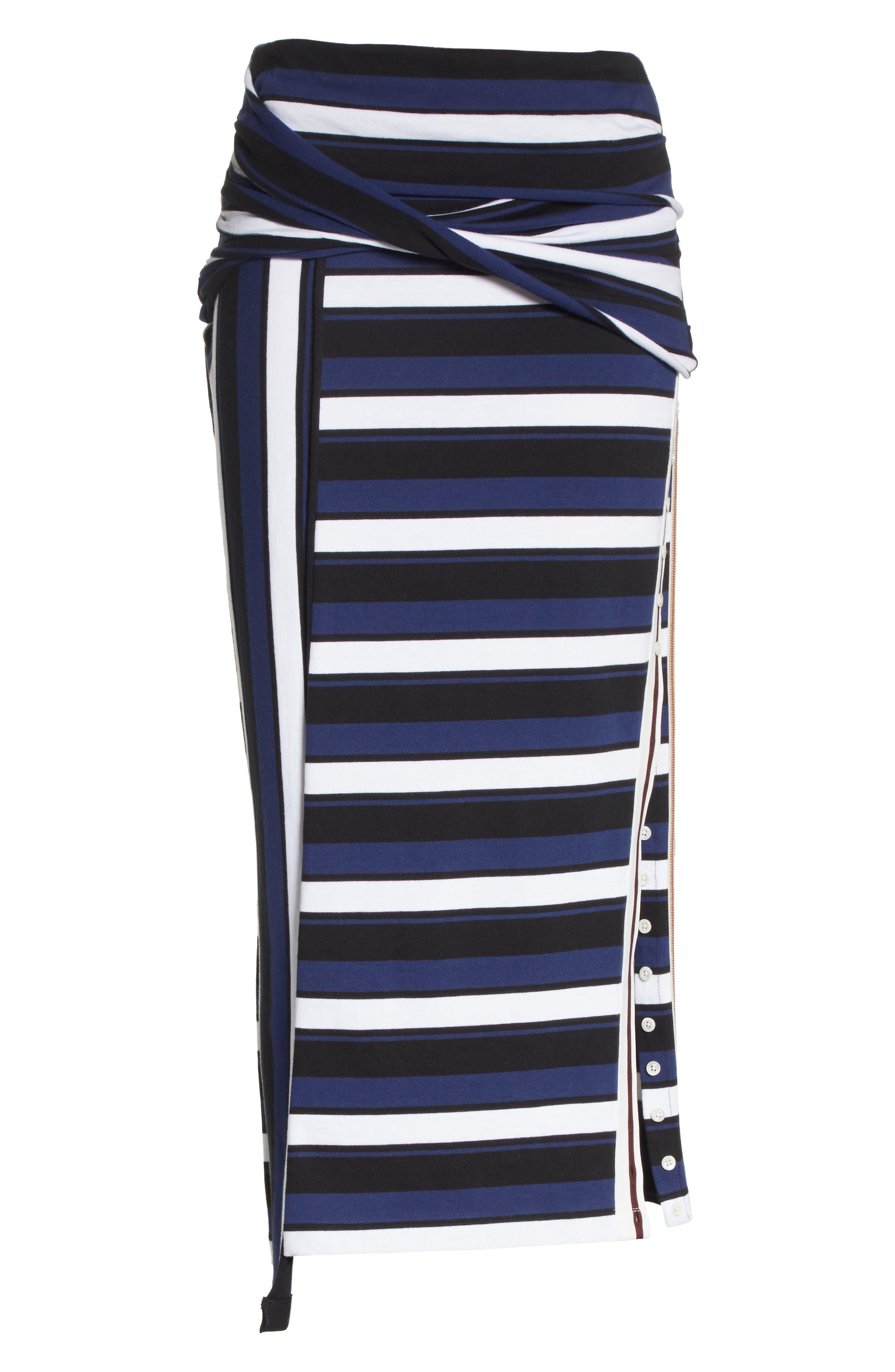Stripe Maxi Skirt,                             Alternate thumbnail 6, color,                             Cobalt-Black