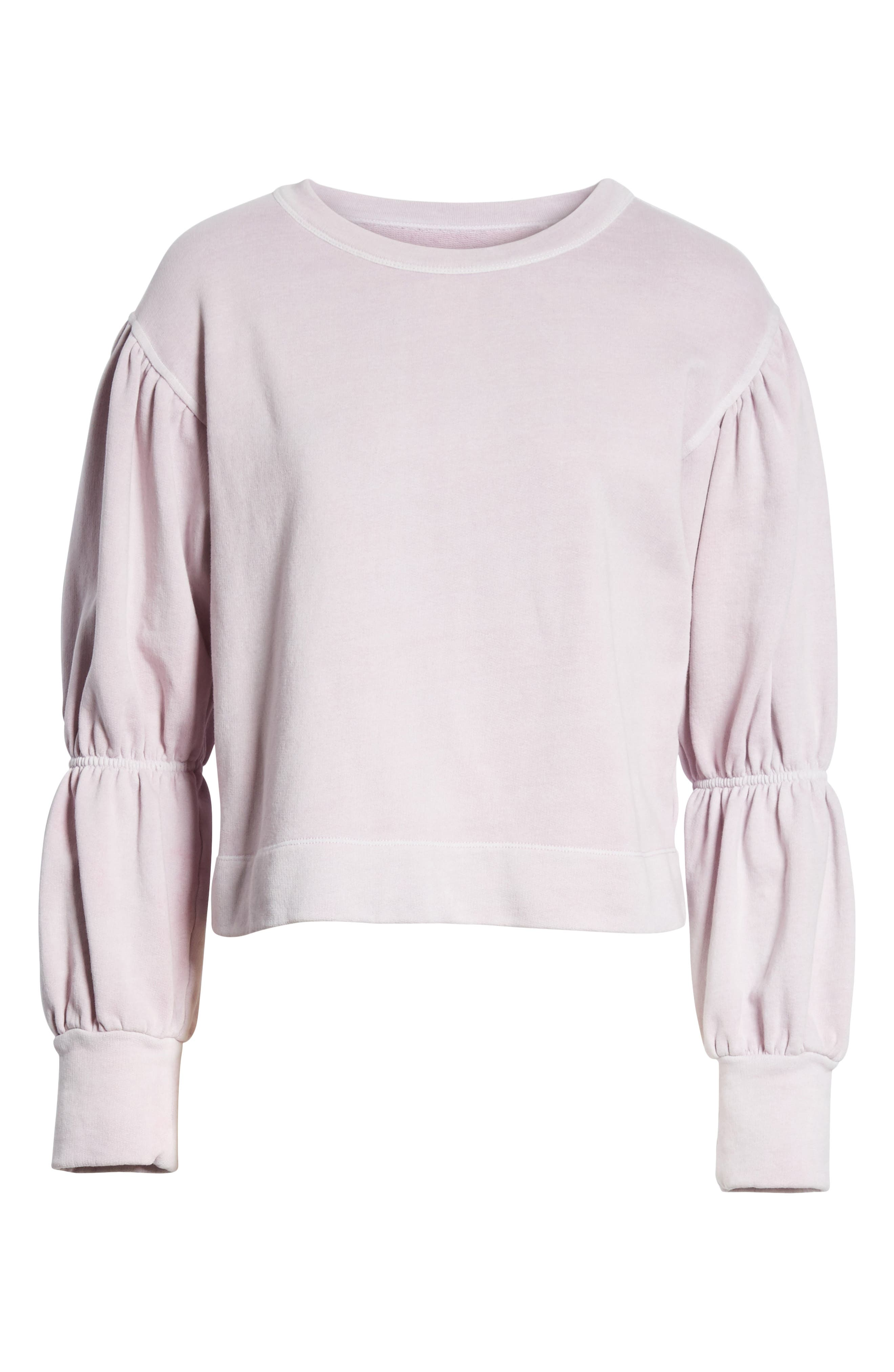 French Terry Pullover,                             Alternate thumbnail 6, color,                             Lilac Dust