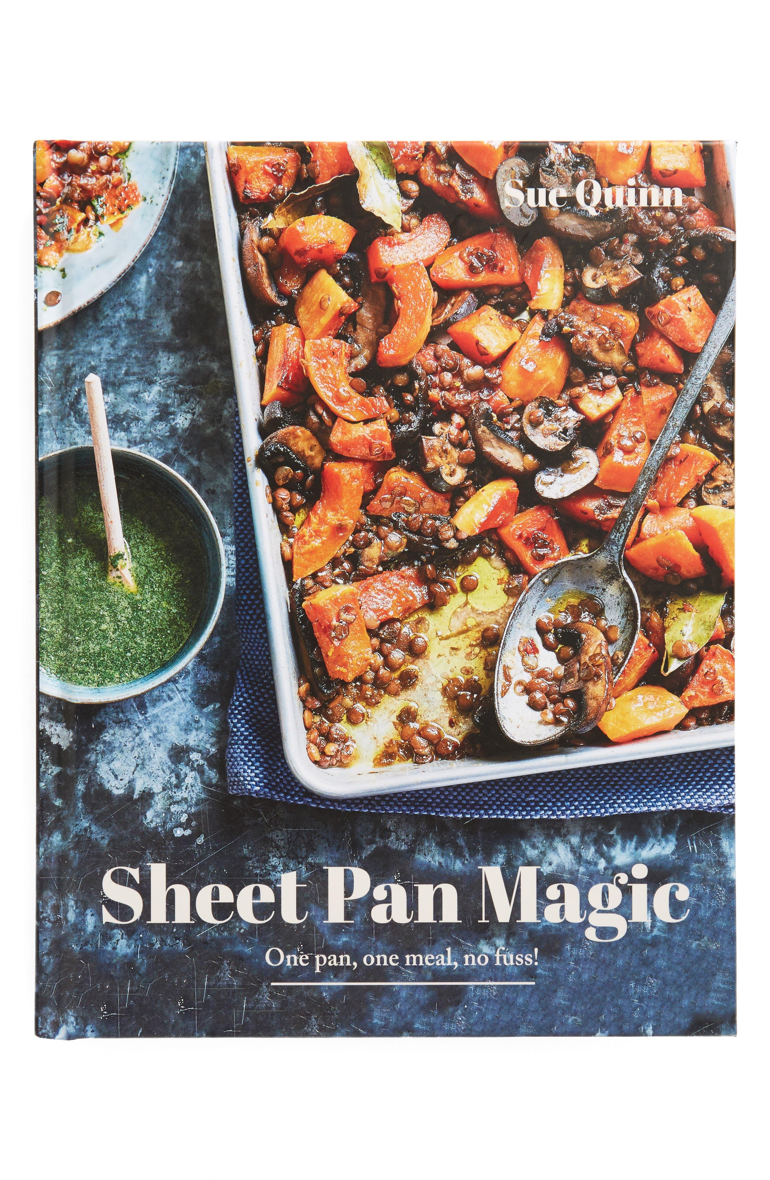 'Sheet Pan Magic' Cookbook,                             Main thumbnail 1, color,                             Red