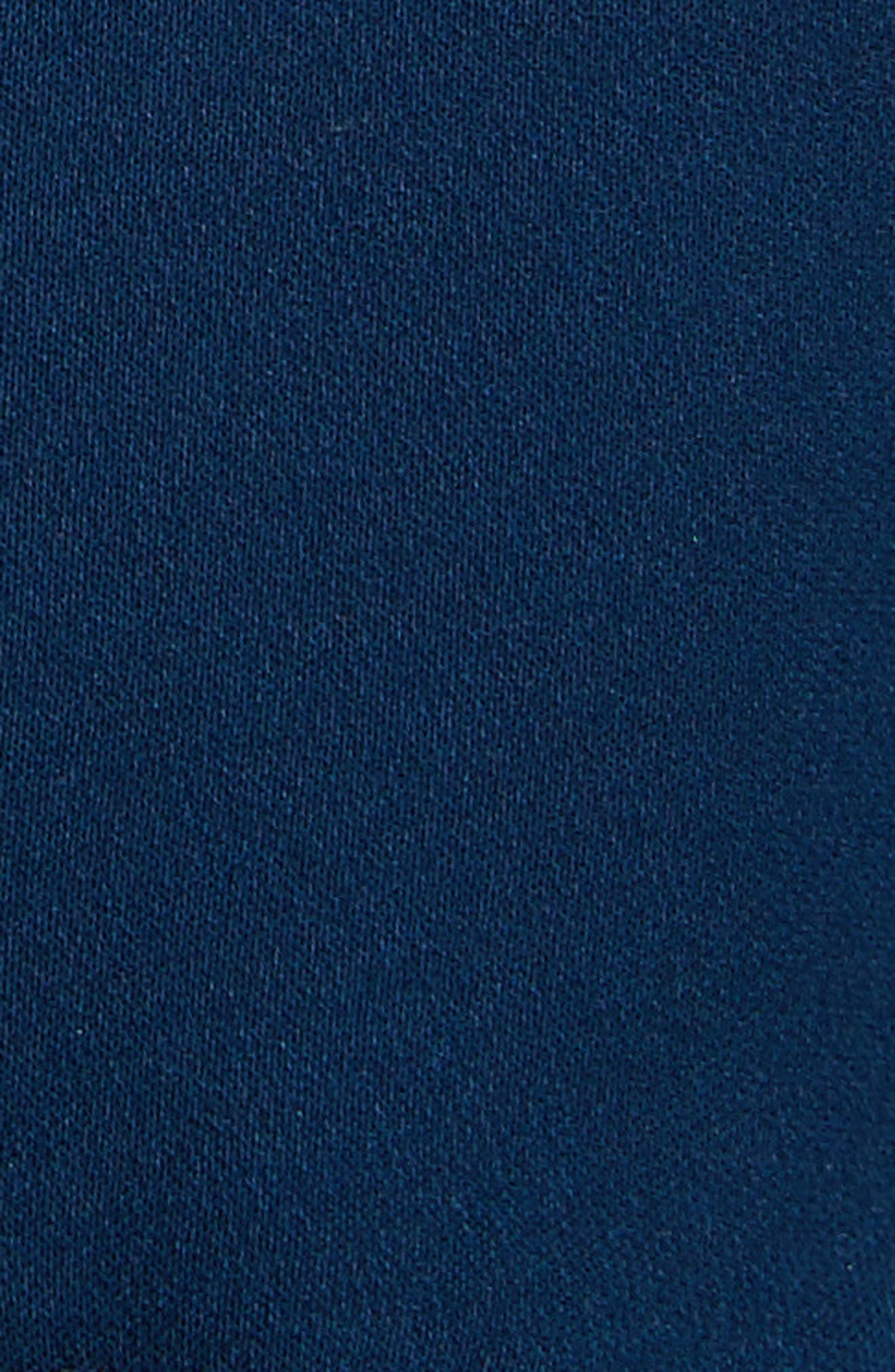 Taghrid Ruffle Silk Dress,                             Alternate thumbnail 5, color,                             Lapis