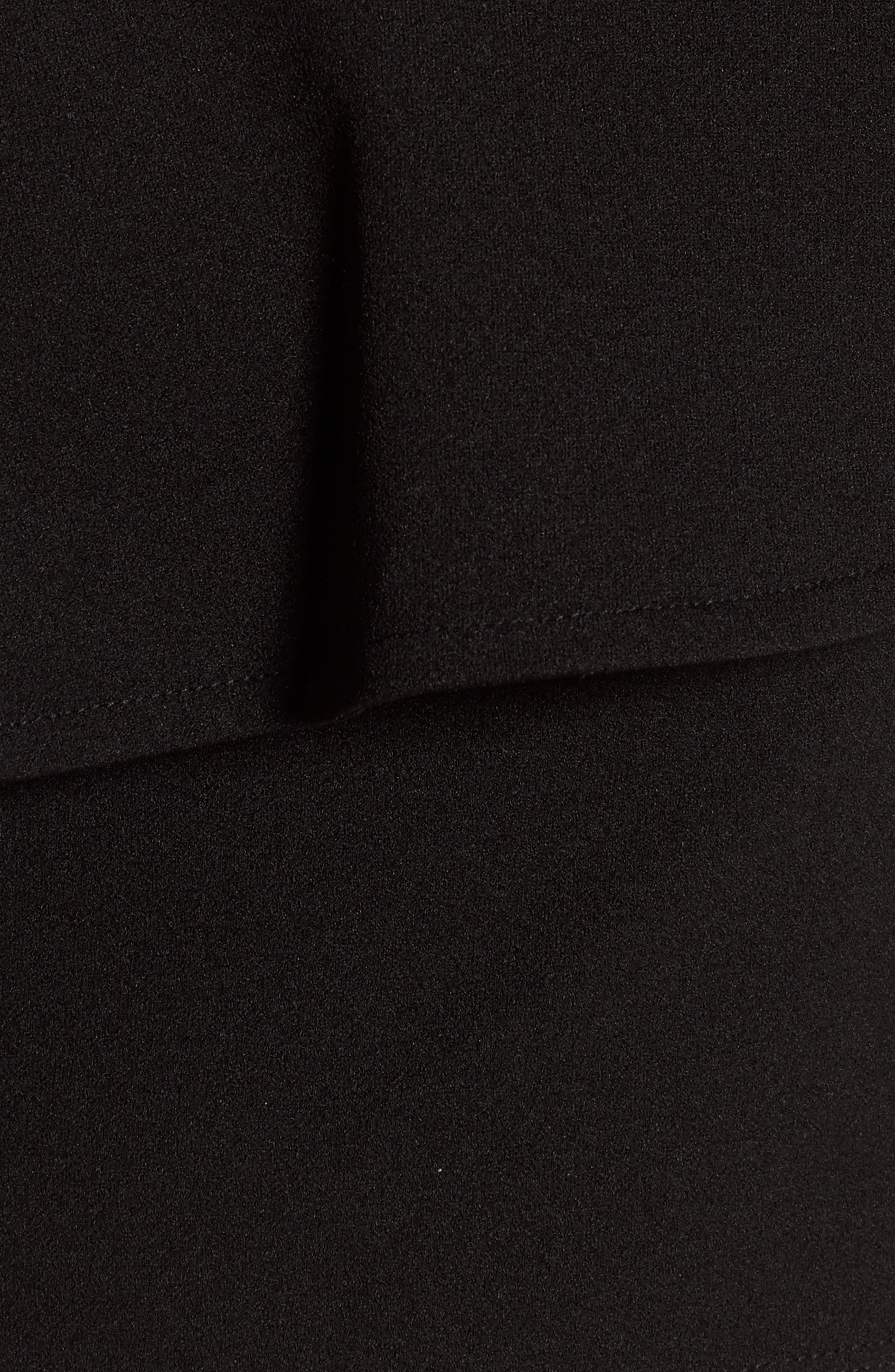 One-Shoulder Crop Top,                             Alternate thumbnail 5, color,                             Black
