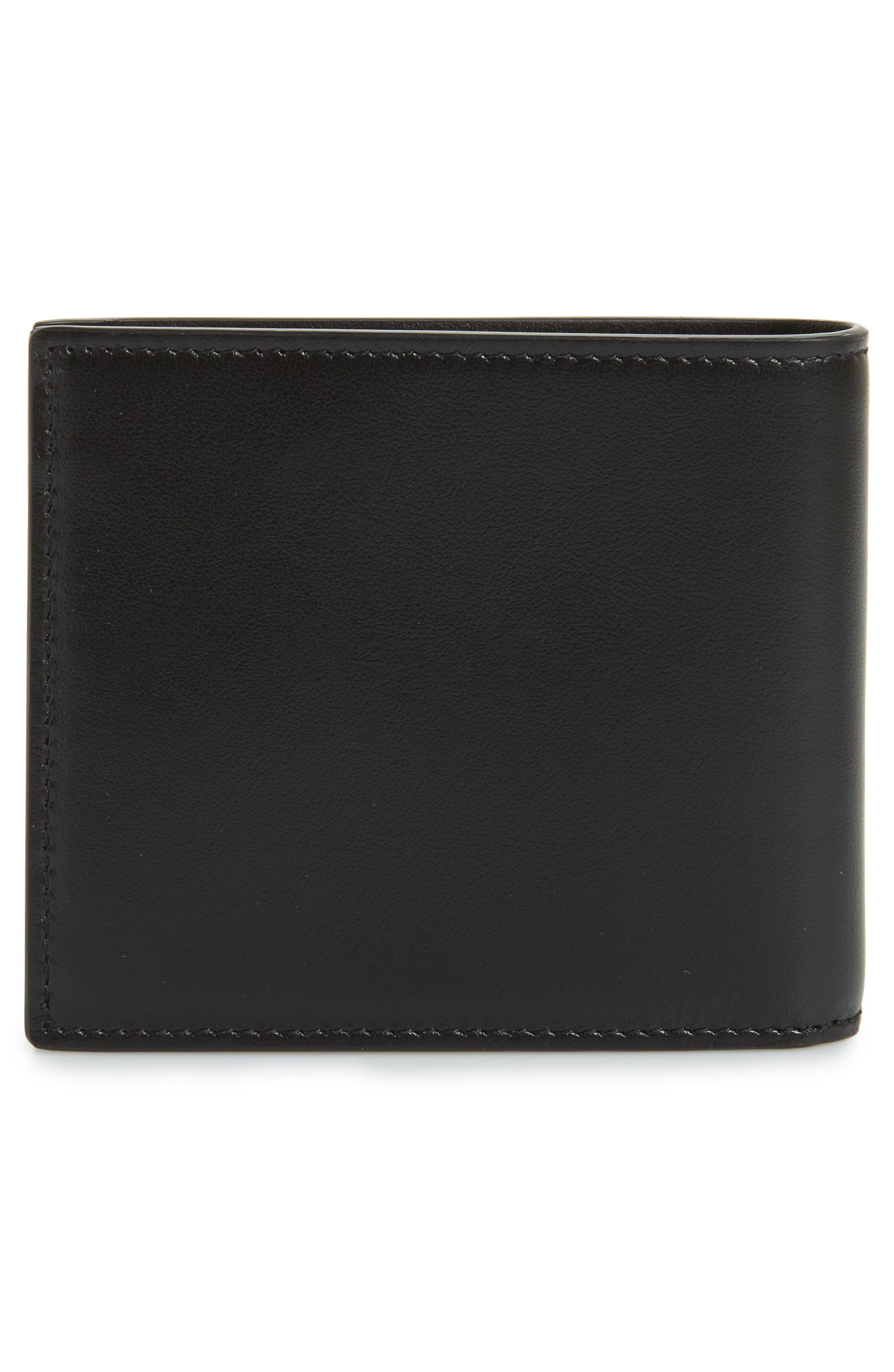 East/West Leather Wallet,                             Alternate thumbnail 3, color,                             Black
