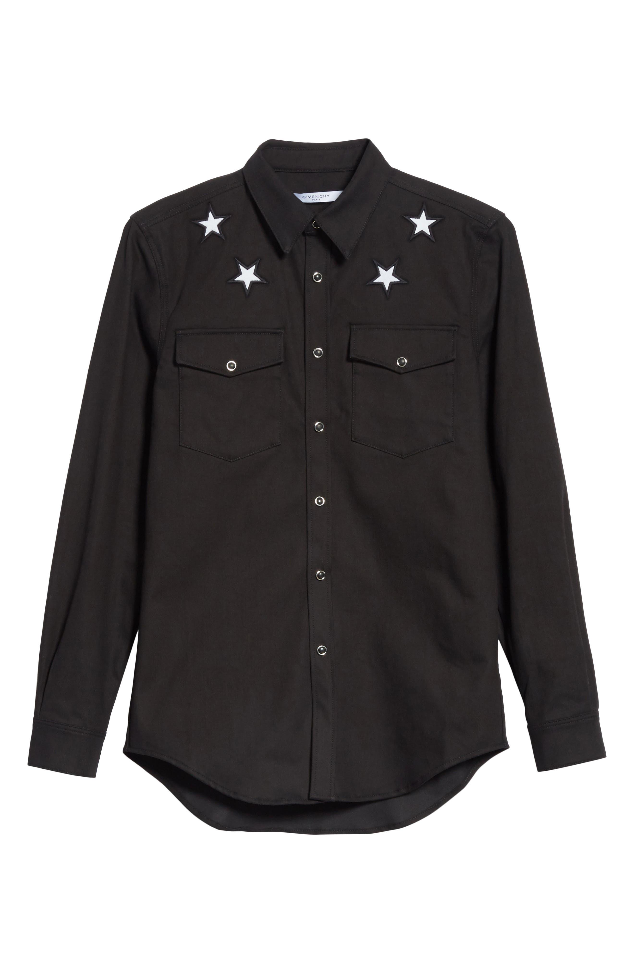 Denim Shirt,                             Alternate thumbnail 6, color,                             Black