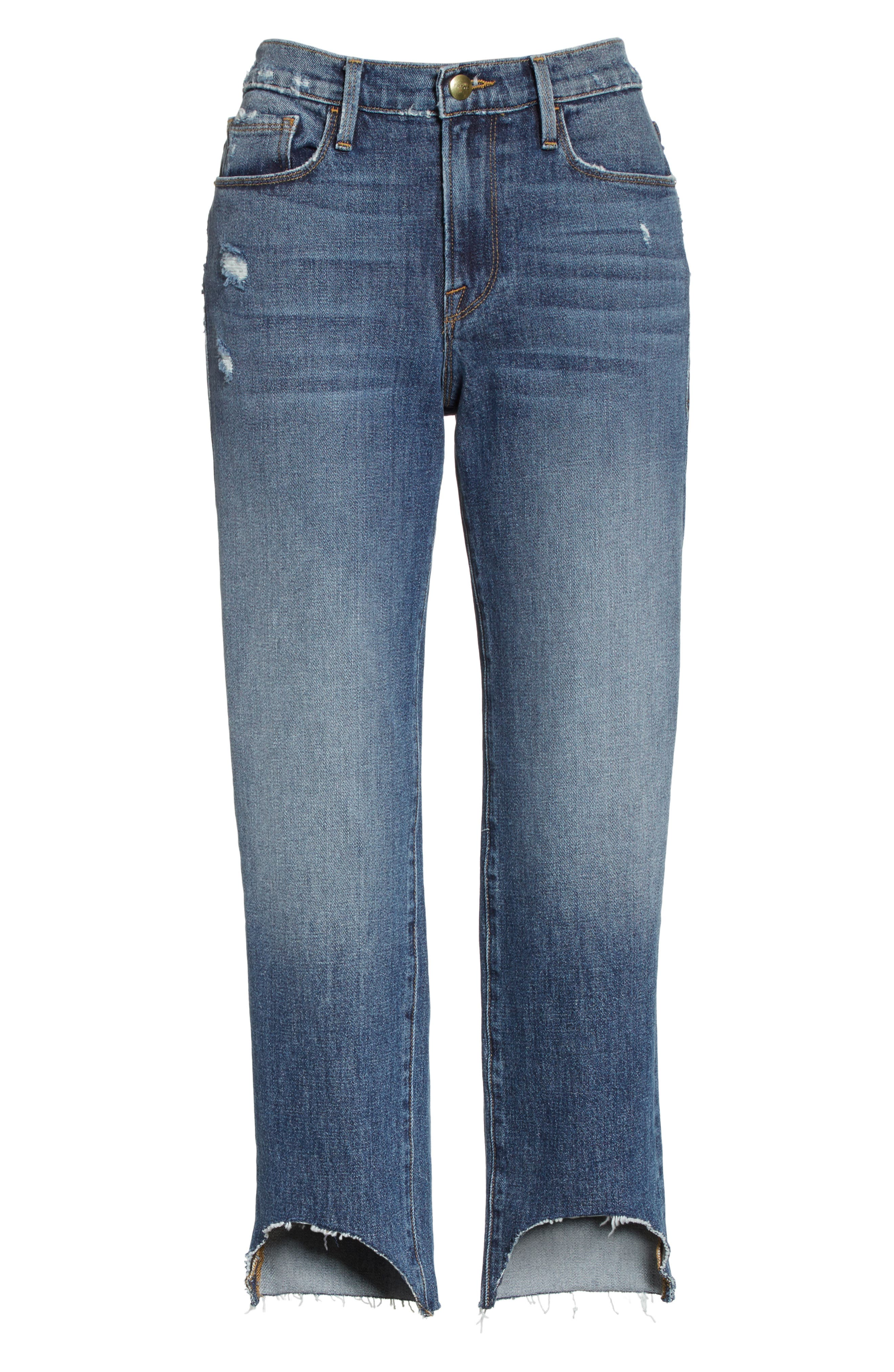 Le Nouveau Scoop Hem Ankle Straight Leg Jeans,                             Alternate thumbnail 6, color,                             Candover