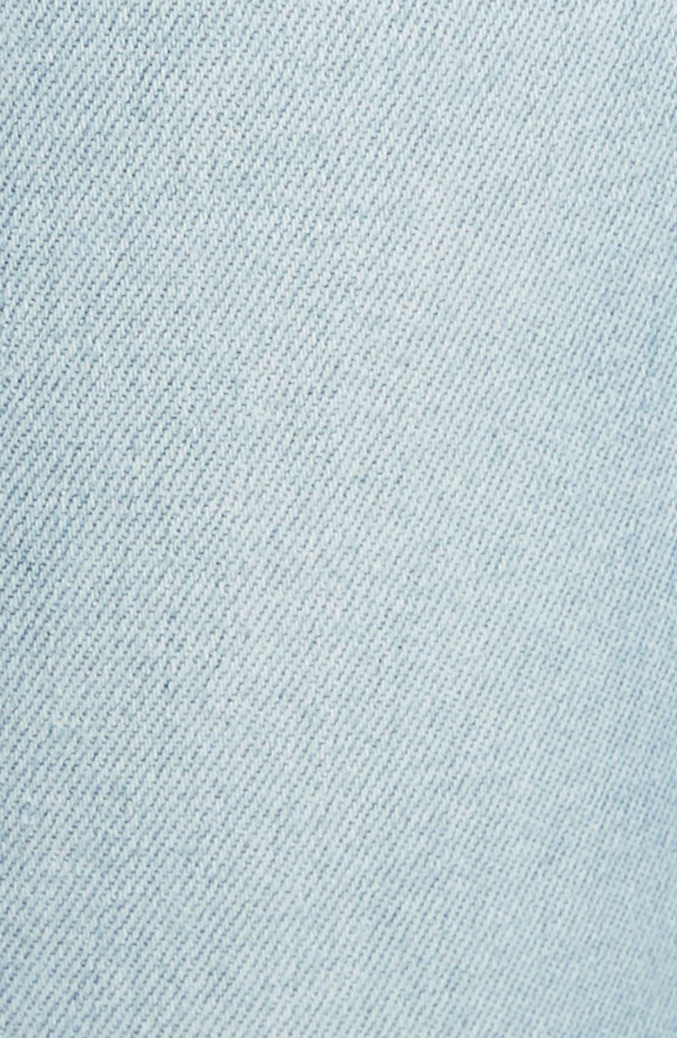 Le Skinny de Jeanne Flounce Skinny Jeans,                             Alternate thumbnail 5, color,                             Limer Stone