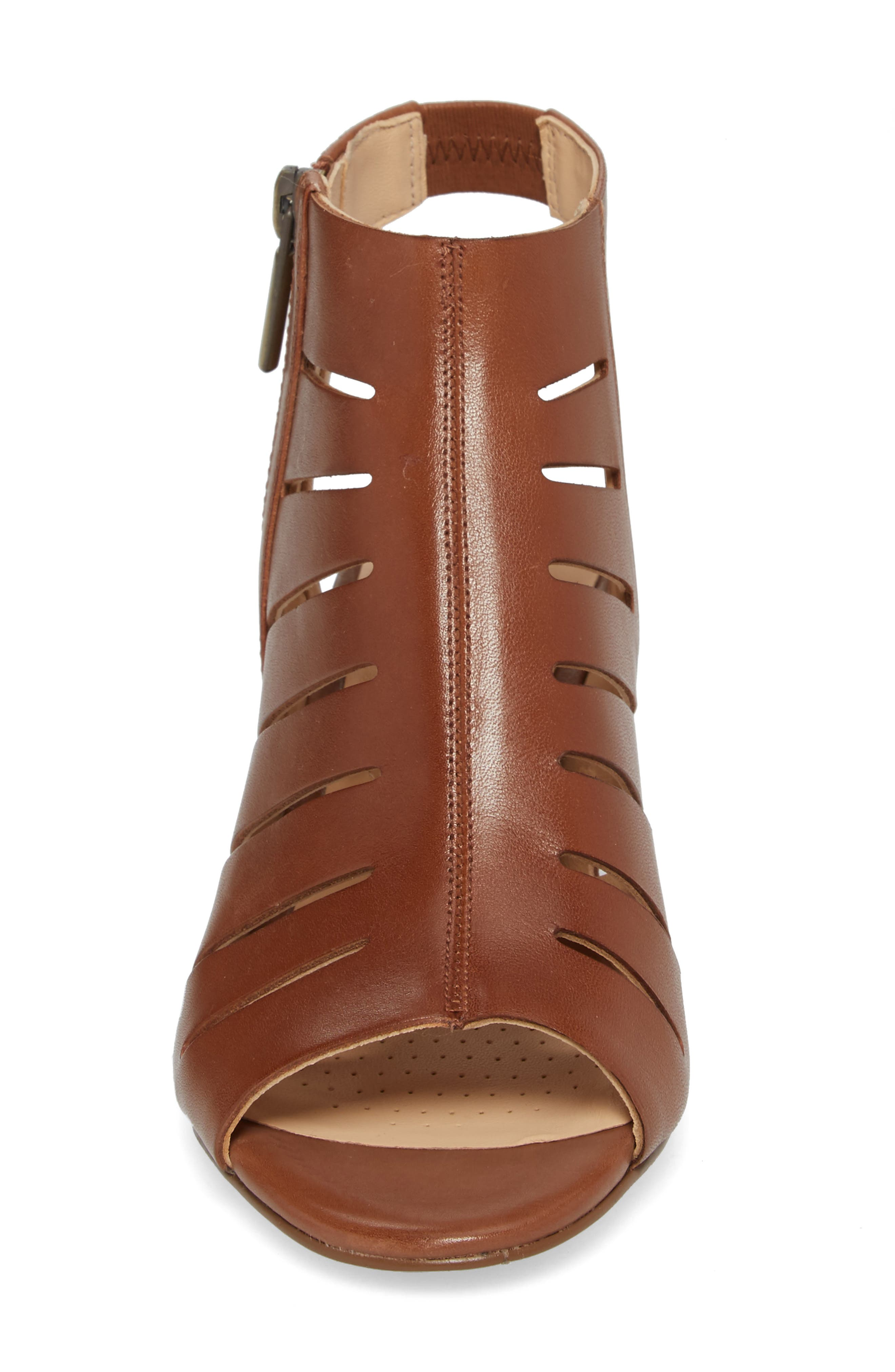 Deloria Ivy Sandal,                             Alternate thumbnail 4, color,                             Tan Leather