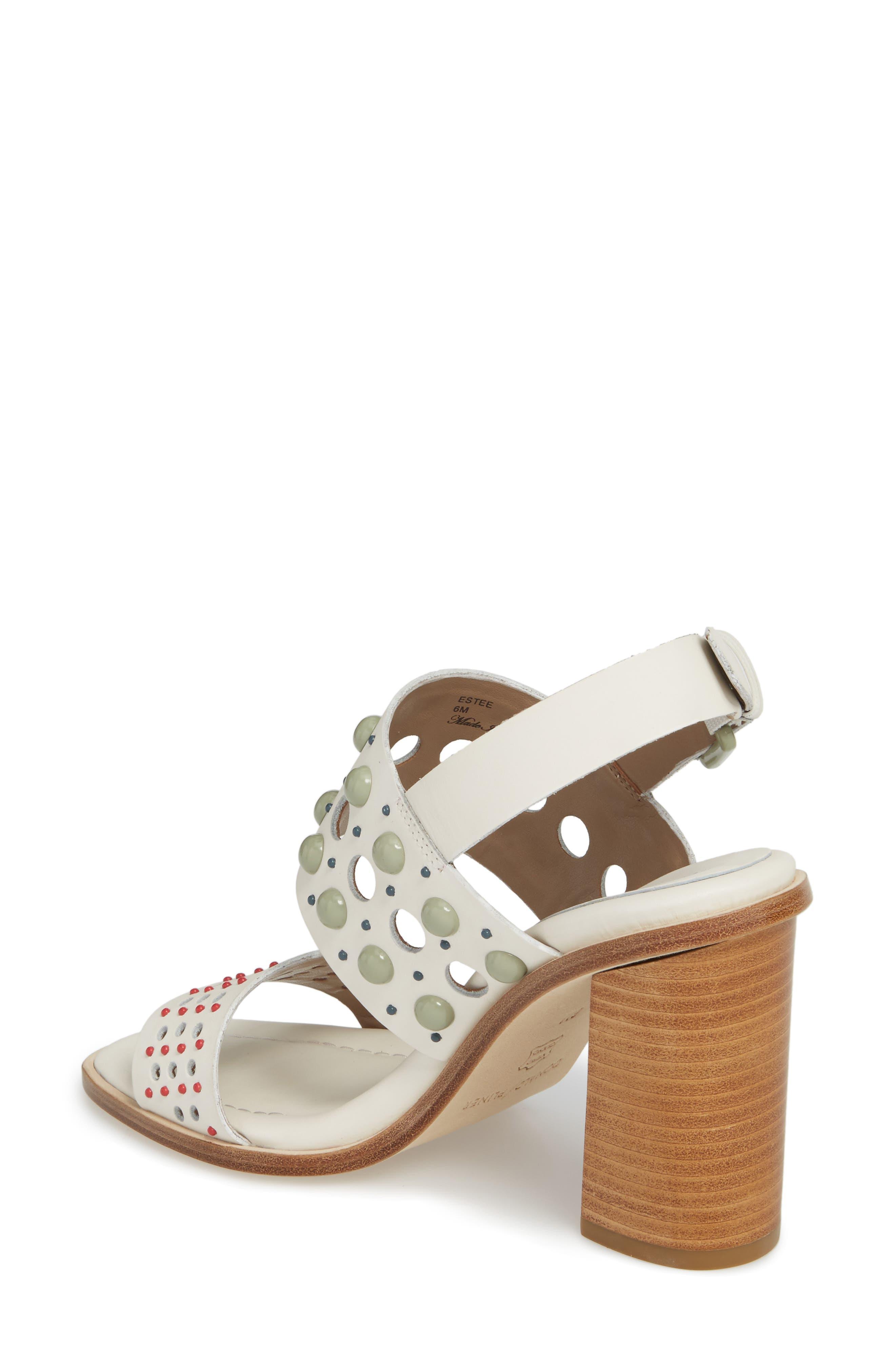 Estee Studded Sandal,                             Alternate thumbnail 2, color,                             Bone Leather