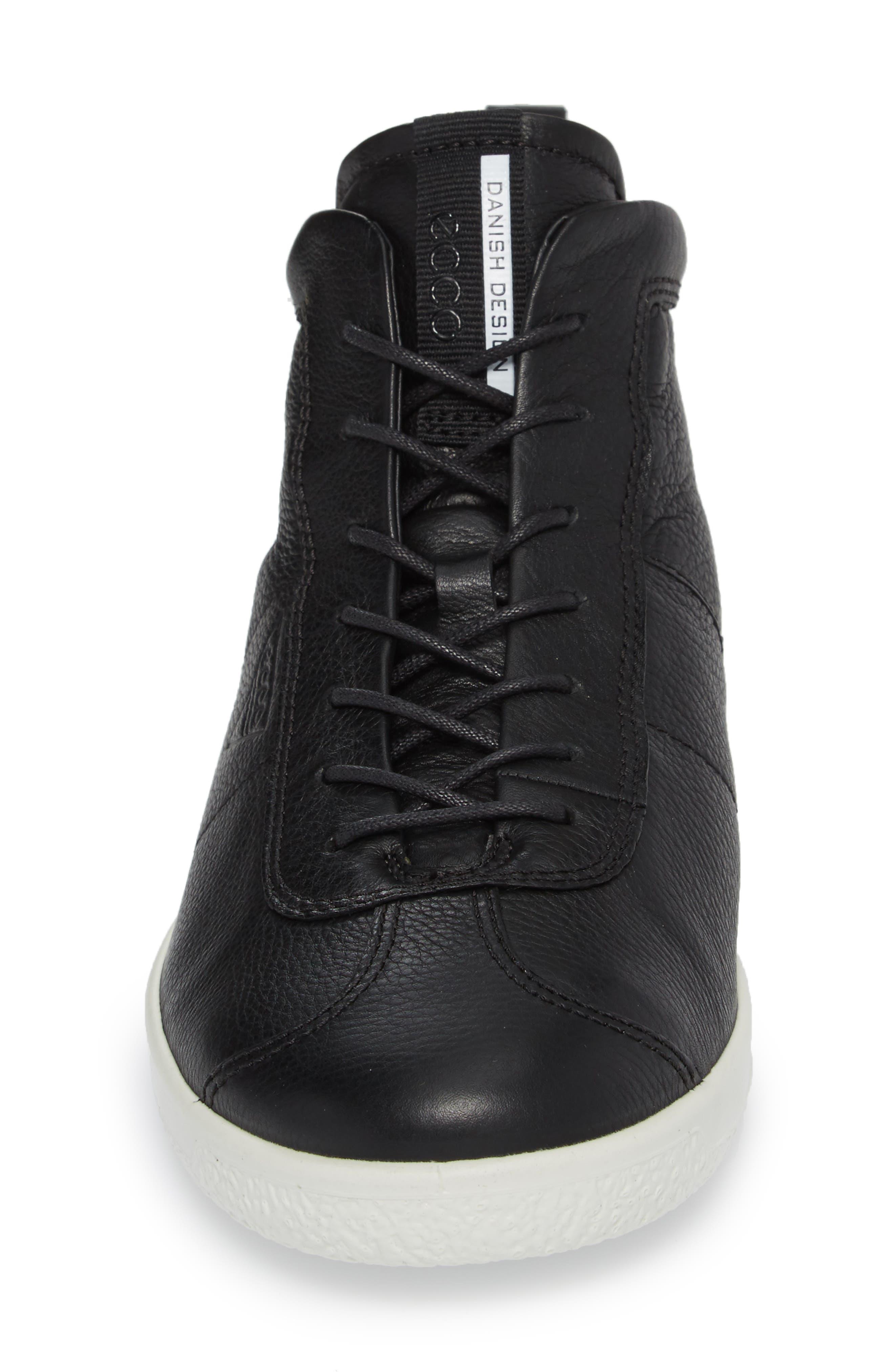 Soft 1 High Top Sneaker,                             Alternate thumbnail 4, color,                             Black Nubuck