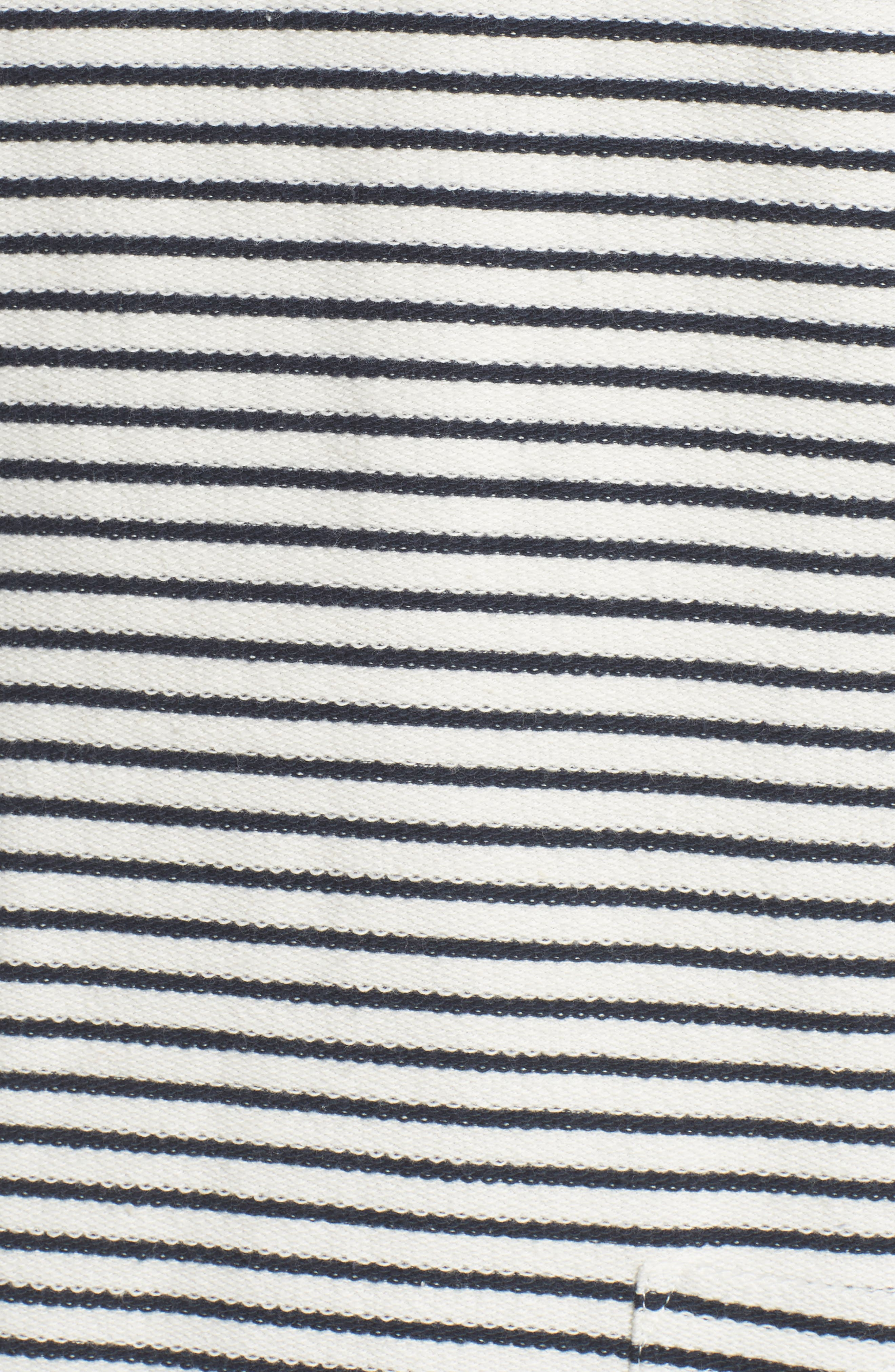 Monreith Stripe Shift Dress,                             Alternate thumbnail 5, color,                             White/ Navy