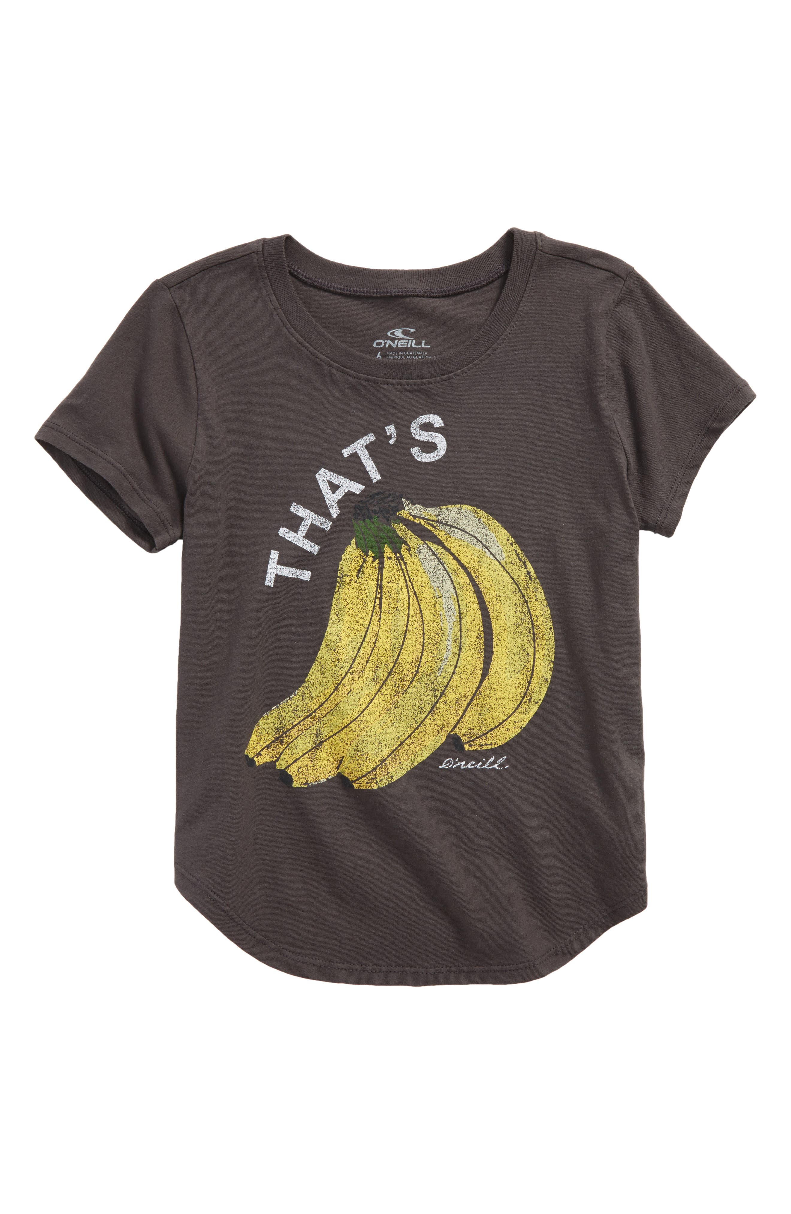That's Bananas Graphic Tee,                         Main,                         color, Washed Black - Fad