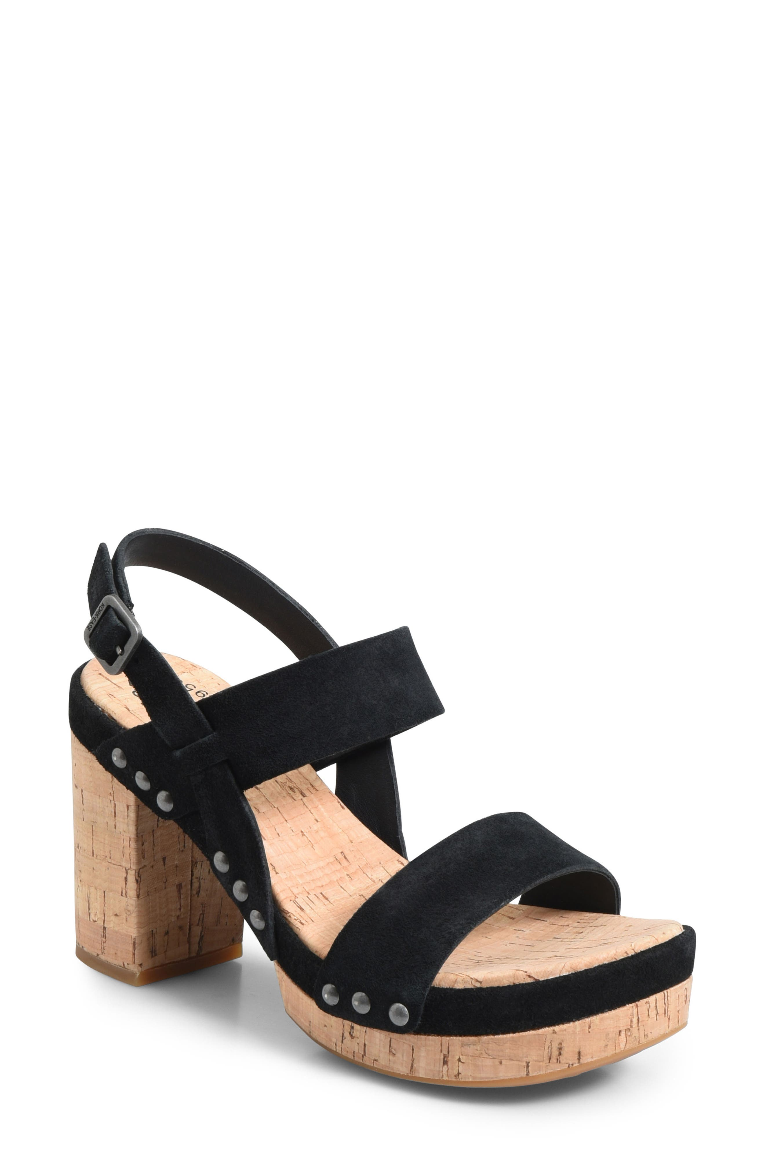 Palmdale Platform Sandal,                         Main,                         color, Black Suede