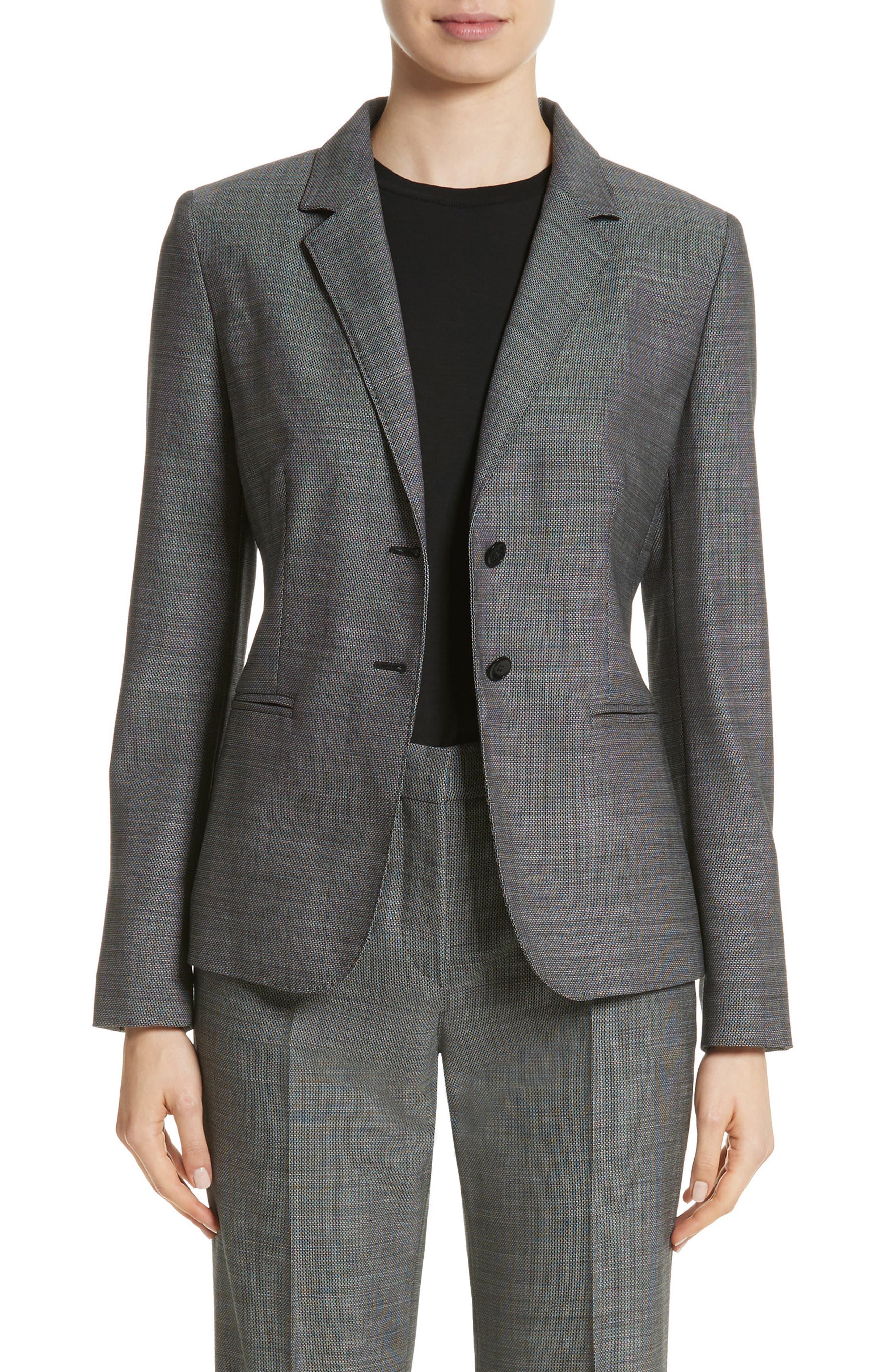 Zac Stretch Wool Blazer,                         Main,                         color, Black