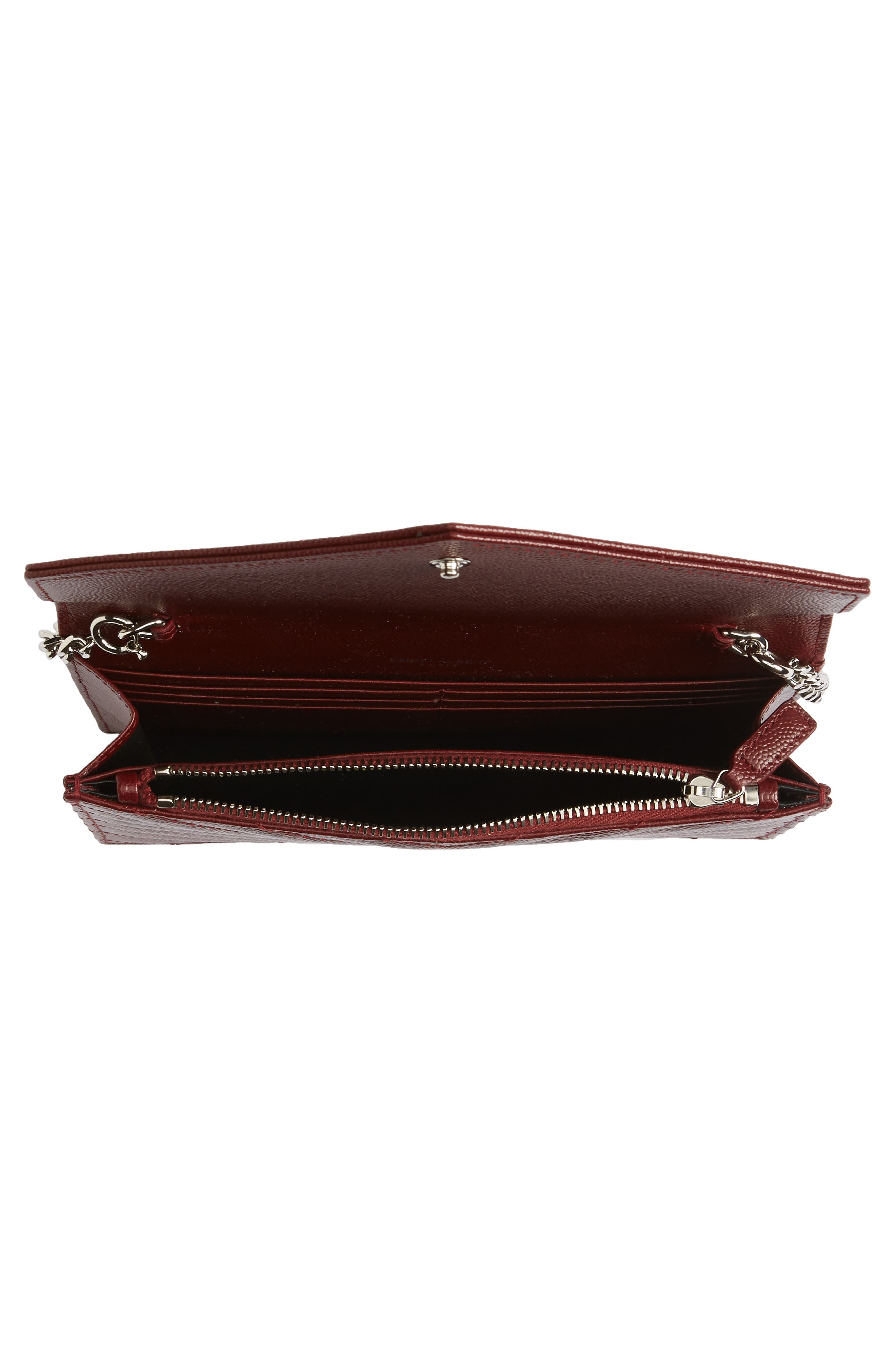 Alternate Image 4  - Saint Laurent Quilted Calfskin Leather Wallet on a Chain