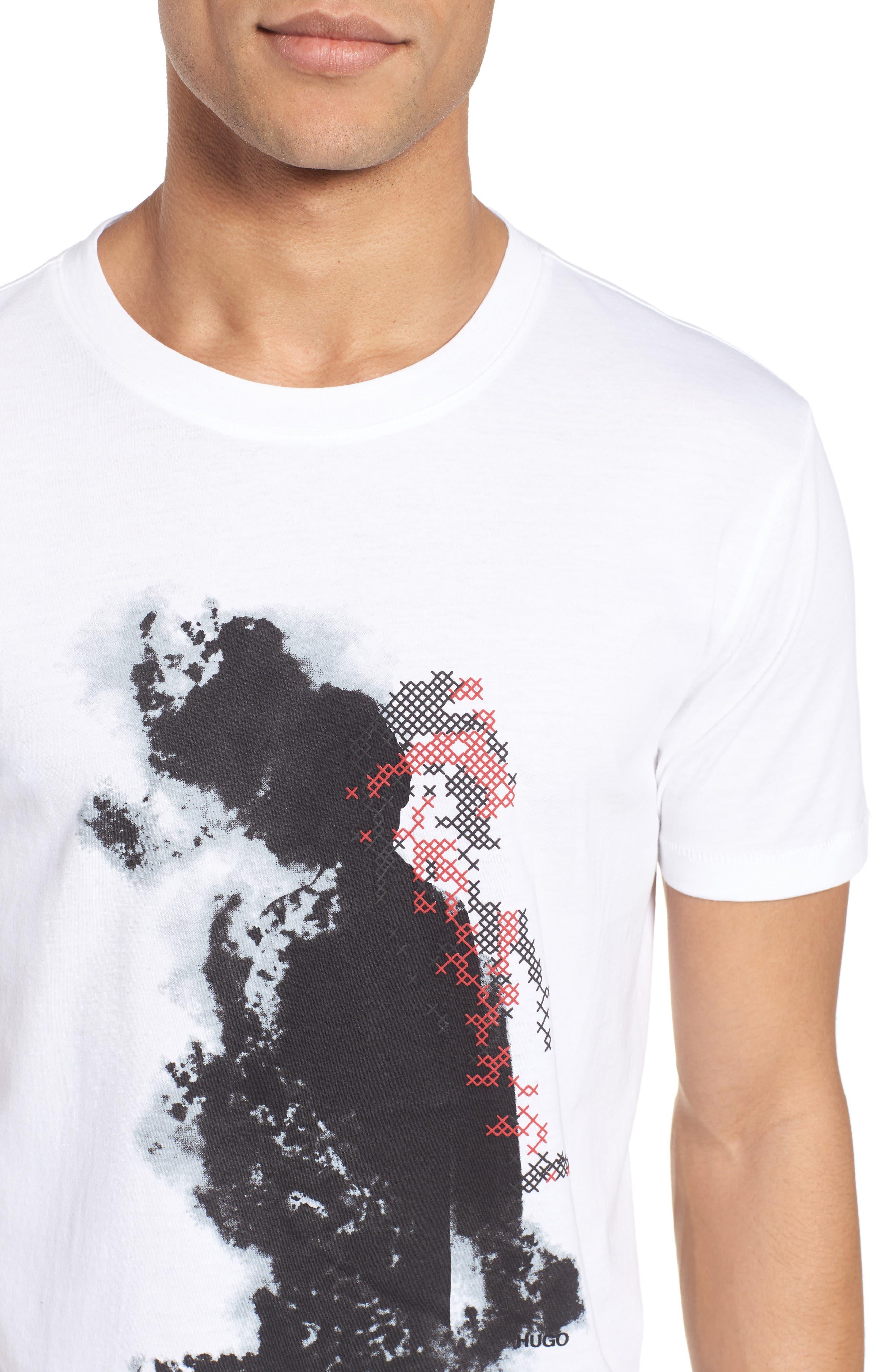 Alternate Image 4  - HUGO Duda Graphic T-Shirt