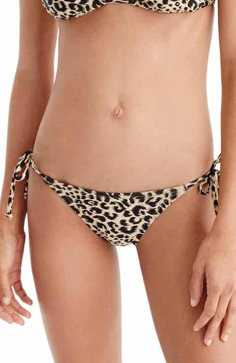 J.Crew Leopard String Bikini Bottoms
