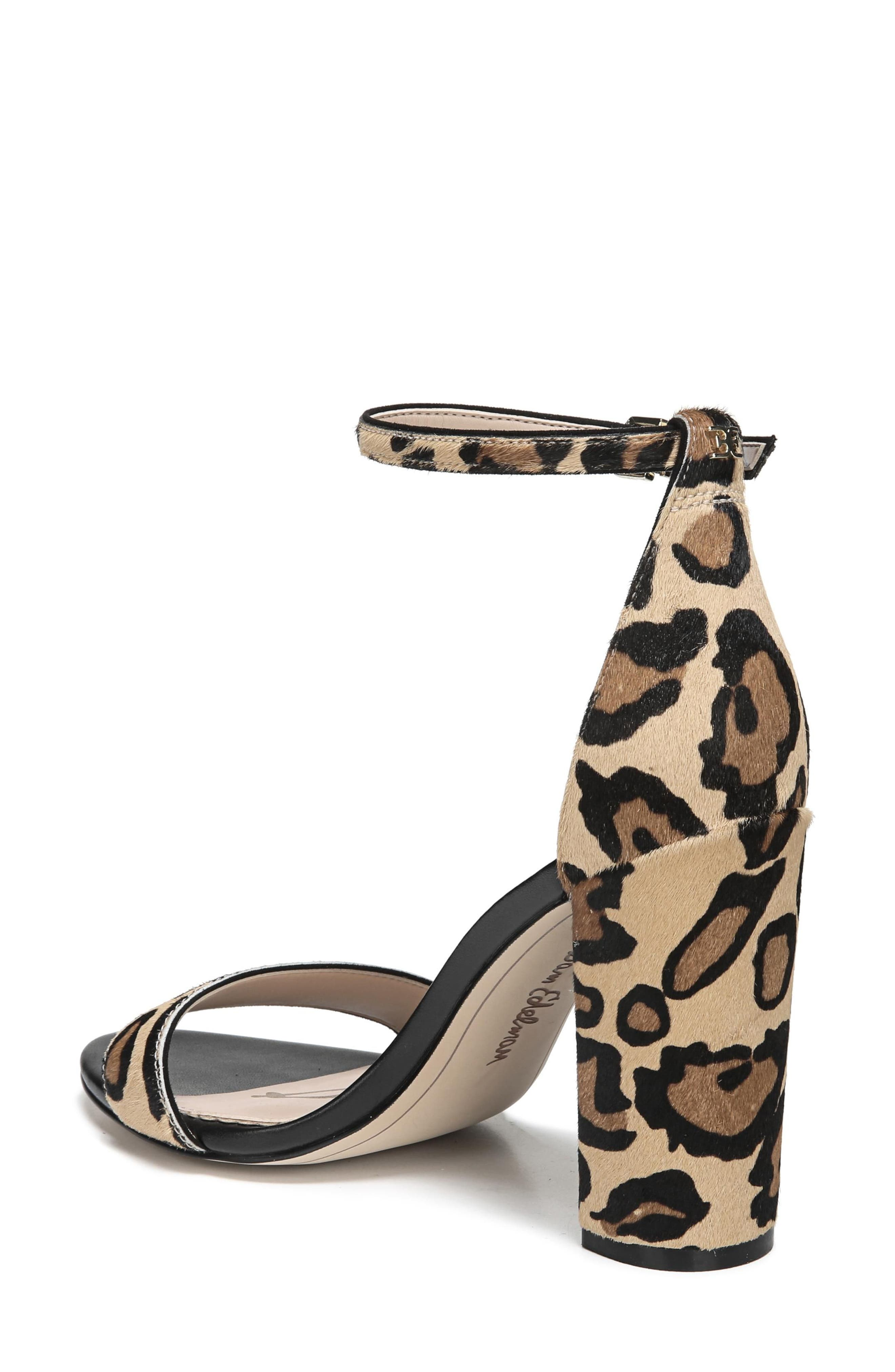 Yaro Ankle Strap Sandal,                             Alternate thumbnail 2, color,                             New Nude Leopard Calf Hair